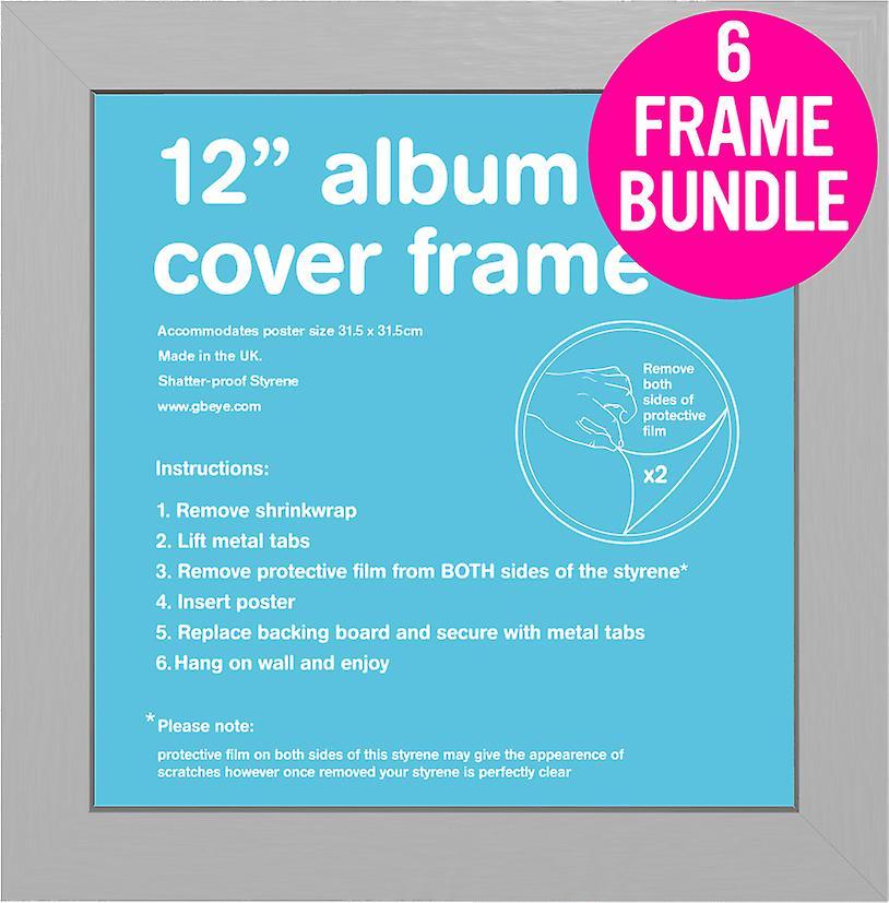 gb posters 6 silver album mdf poster frames 12 bundle fruugo