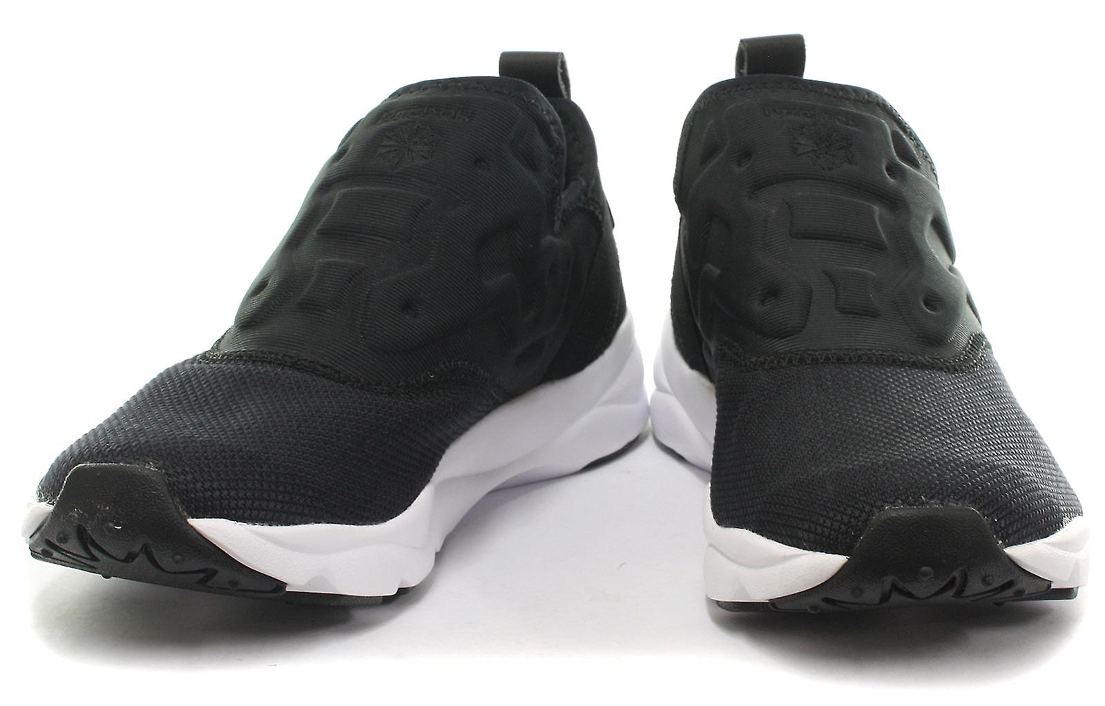 2f26371508bf Reebok Classic Furylite Slip Contemporary Blk Womens Trainers