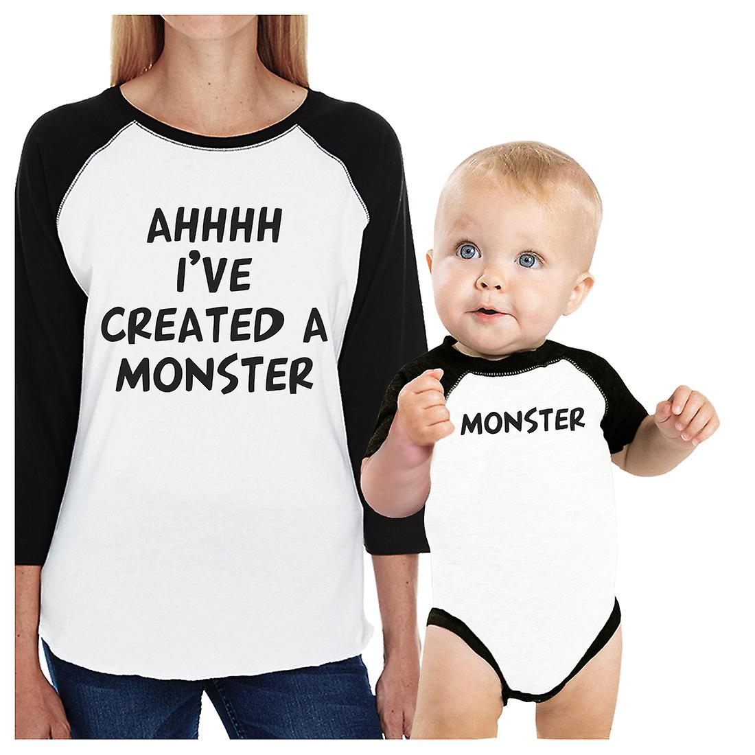 6a9fdaab Created A Monster Mom and Baby Matching Baseball Shirts Mothers Day ...