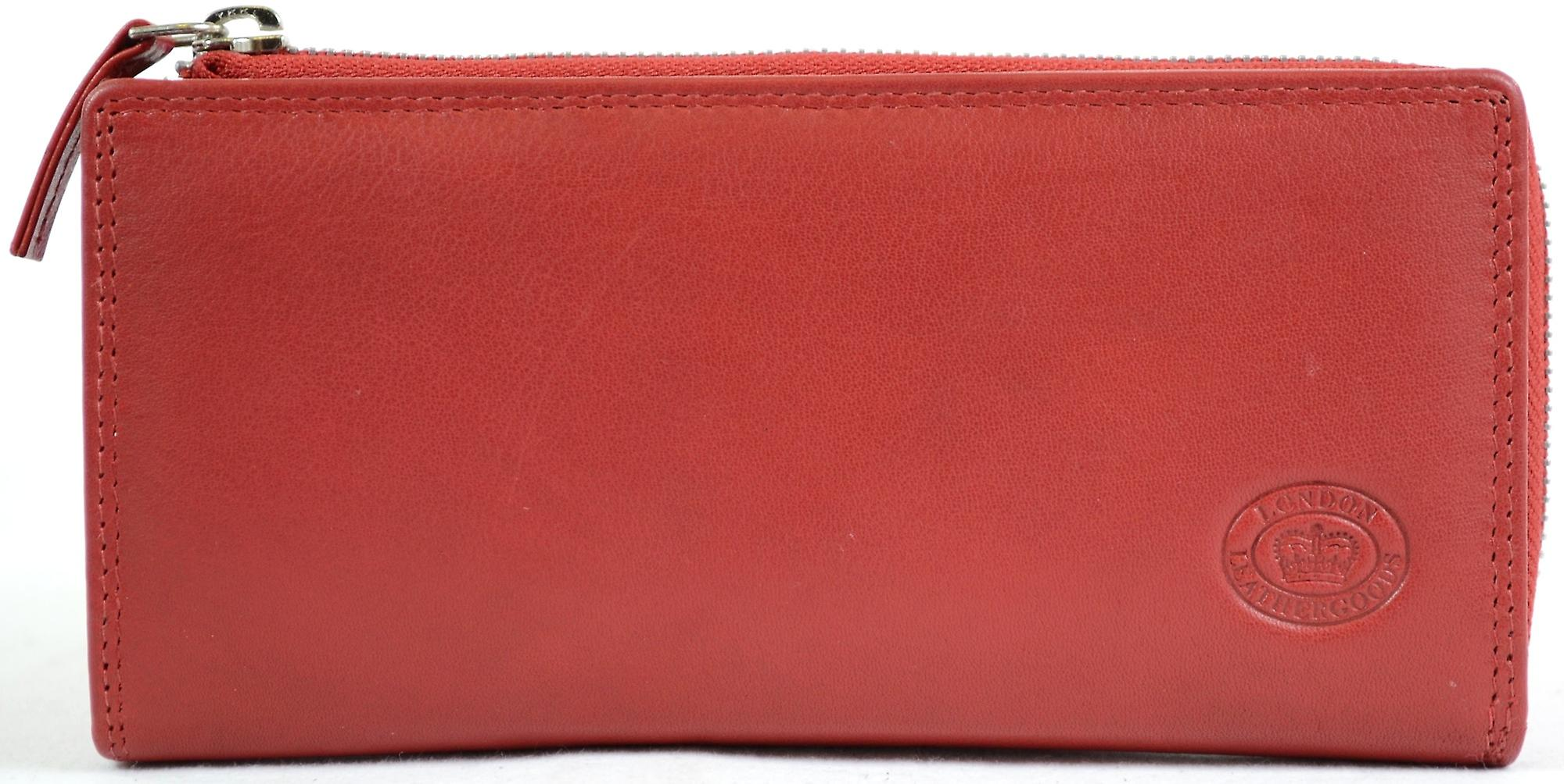 767a36dbb8a Ladies Large Soft Nappa Leather Matinee Purse with Multiple Credit Card  Slots and Pockets ( Red