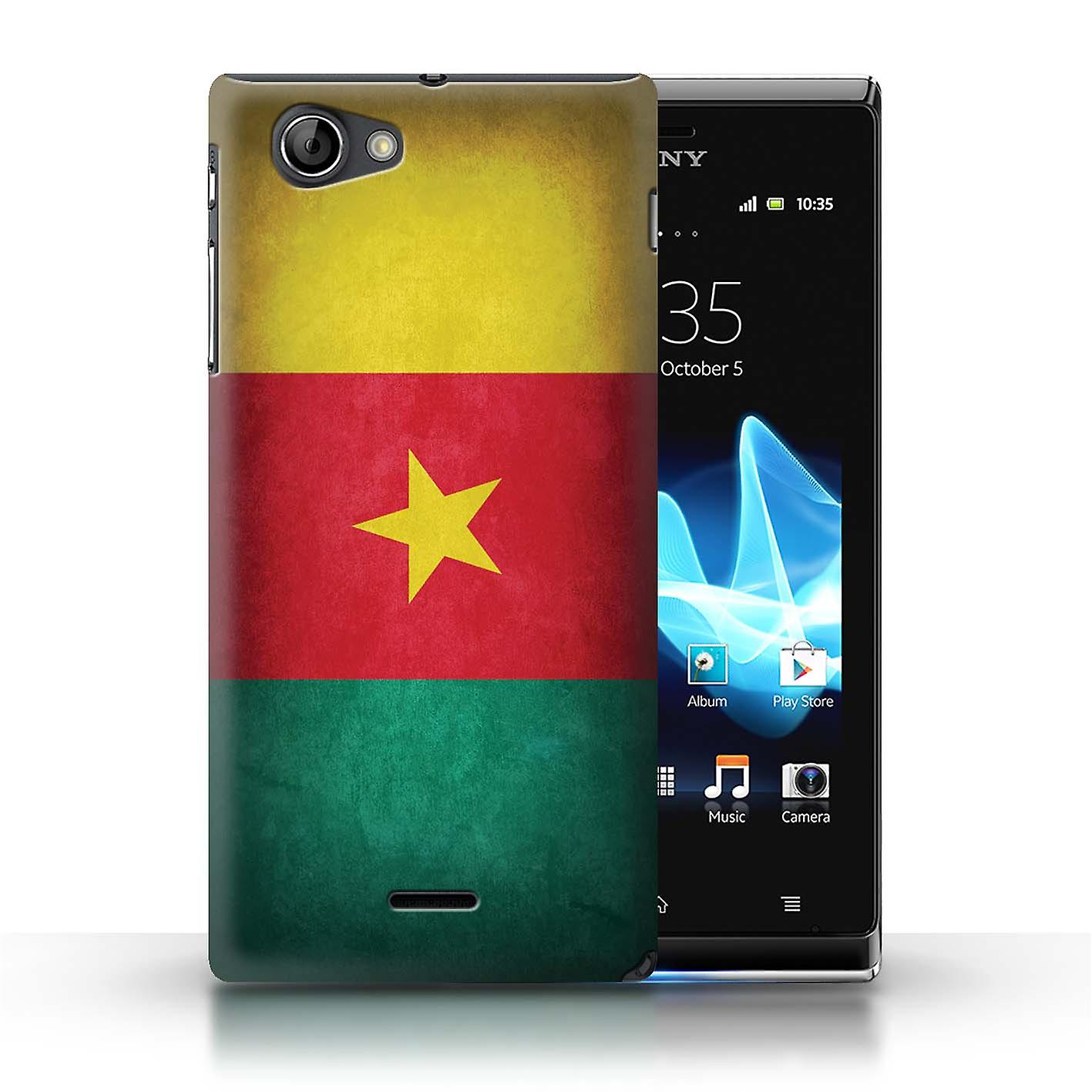 competitive price d31d5 78b99 STUFF4 Case/Cover for Sony Xperia J (ST26i)/Cameroon/Cameroonian/Flags