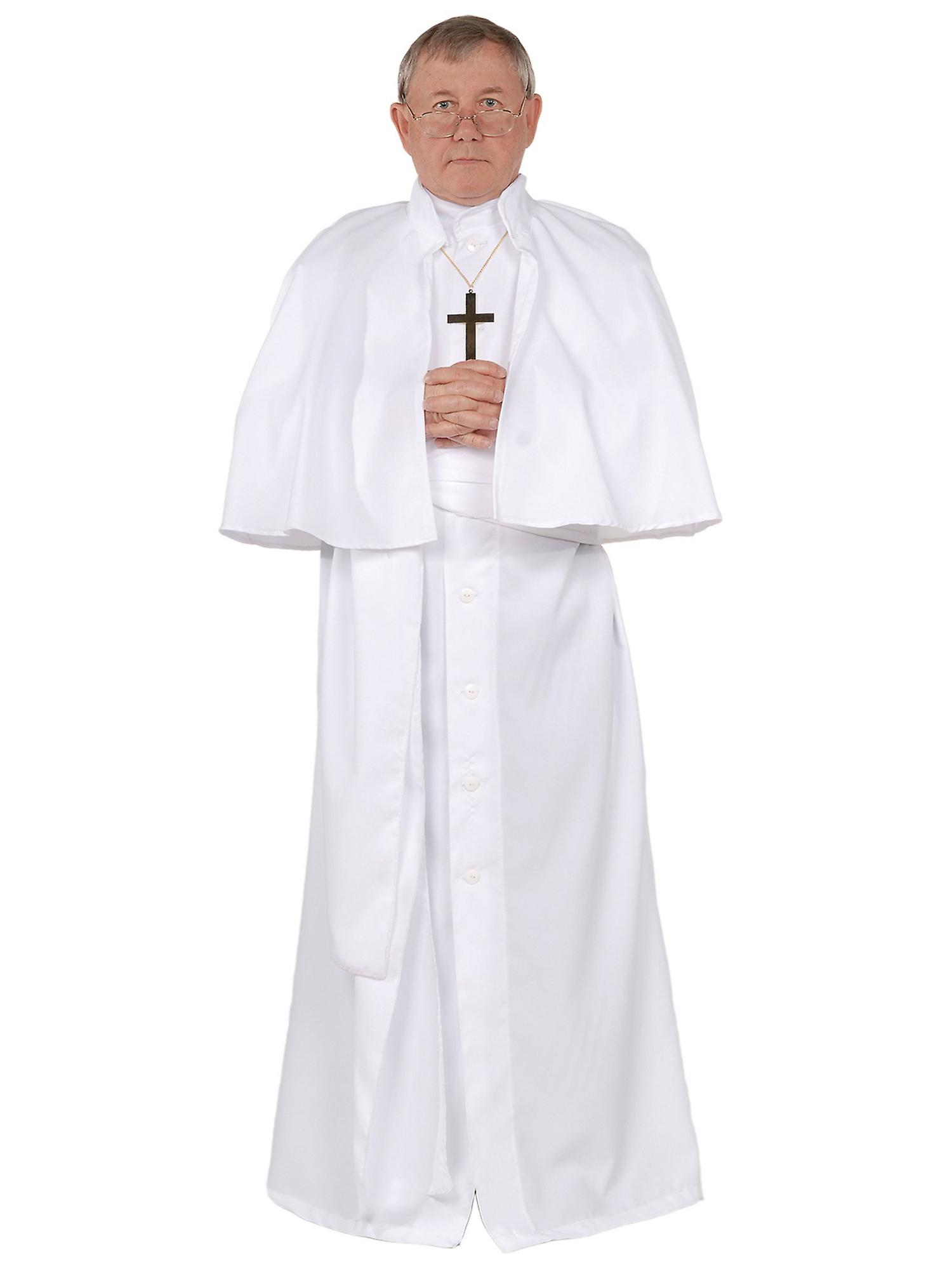 Påven religiösa biskop katolsk präst kardinal dräkt Deluxe män kostym afc4acc139caa