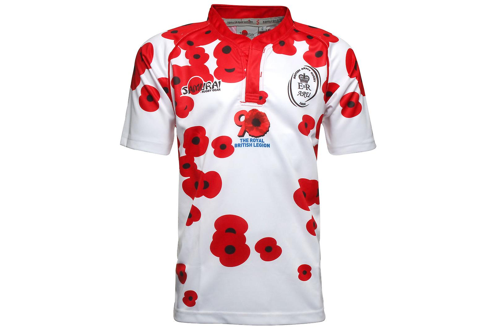 29a3c9c972c Click image to zoom. Samurai Army Rugby Union Poppy Appeal S/S Rugby Shirt