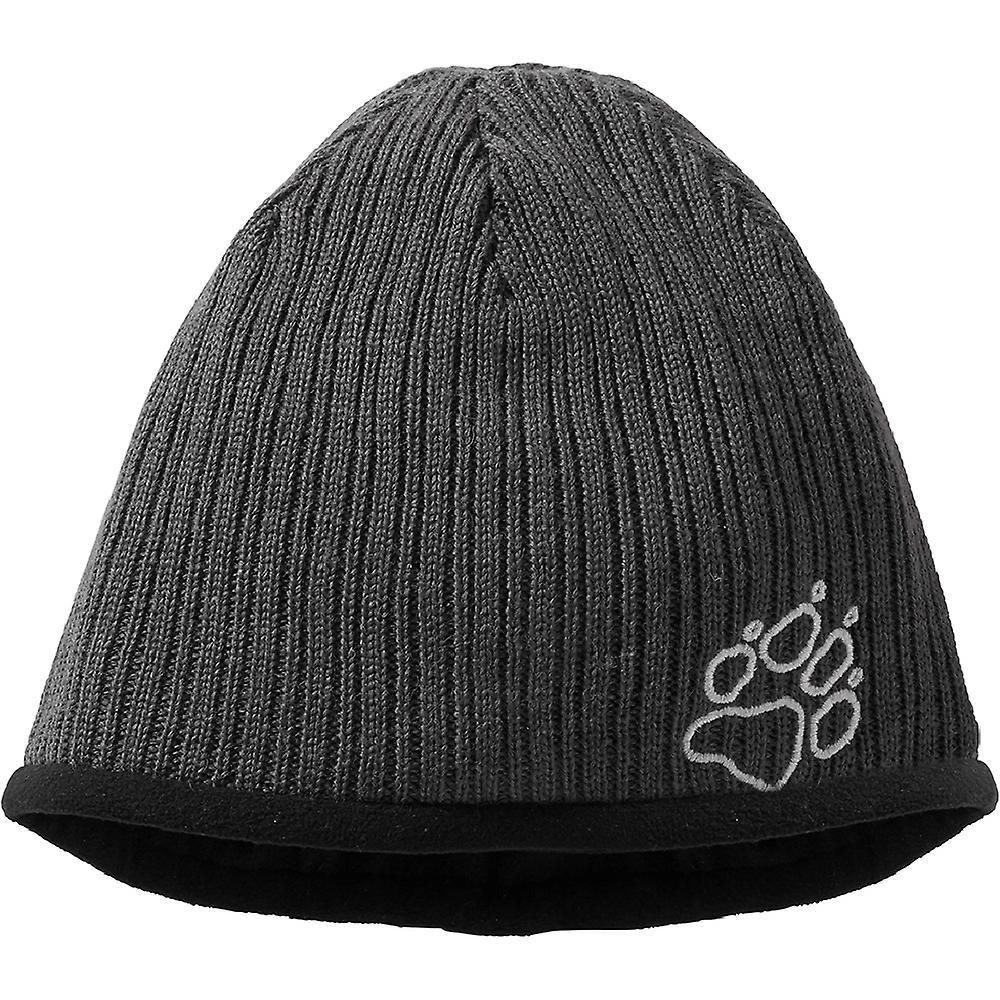 Jack Wolfskin Mens Stormlock Rip Rap Fleece Lined Wool Beanie Hat ... 1407a3f98646