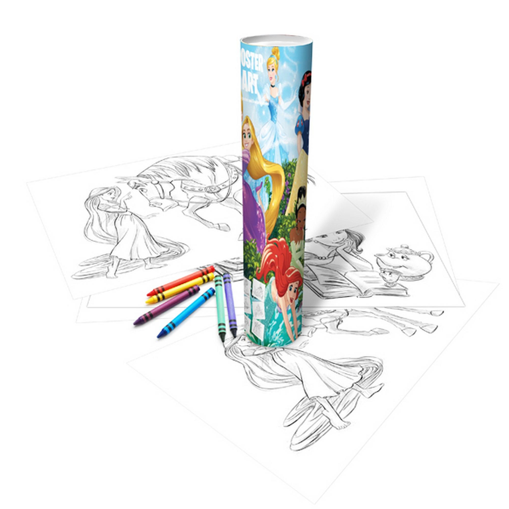Disney Princess Childrens Girls Official Poster Art Colouring Tube