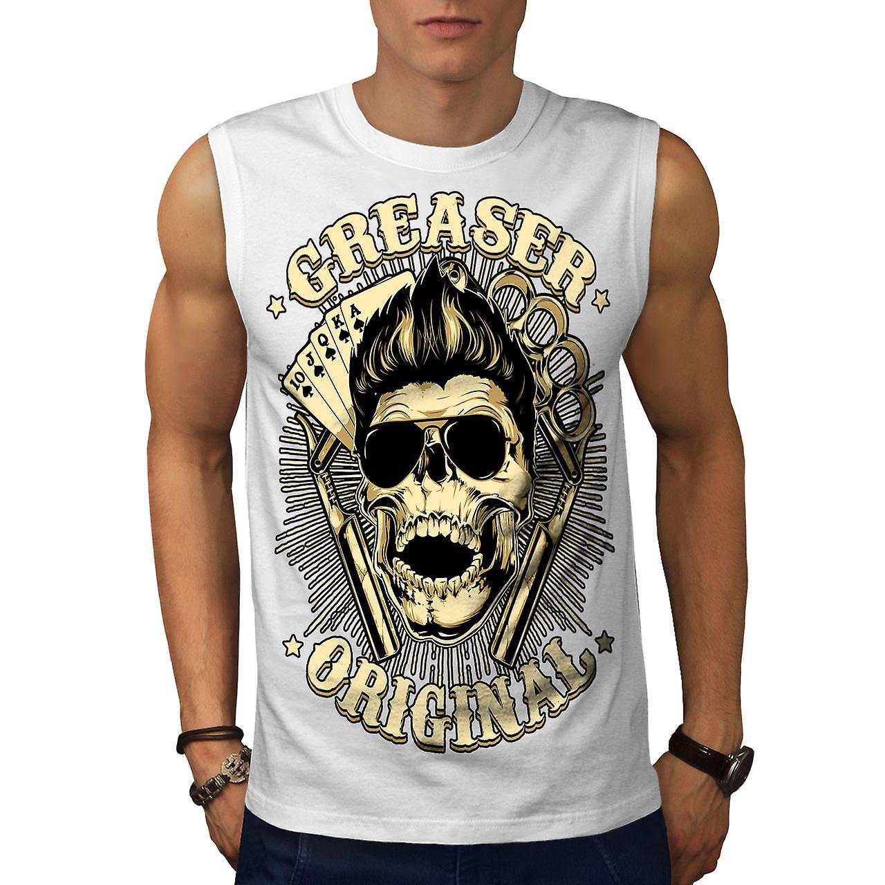 6c894e24c Grease Original Card Men WhiteSleeveless T-shirt | Wellcoda | Fruugo