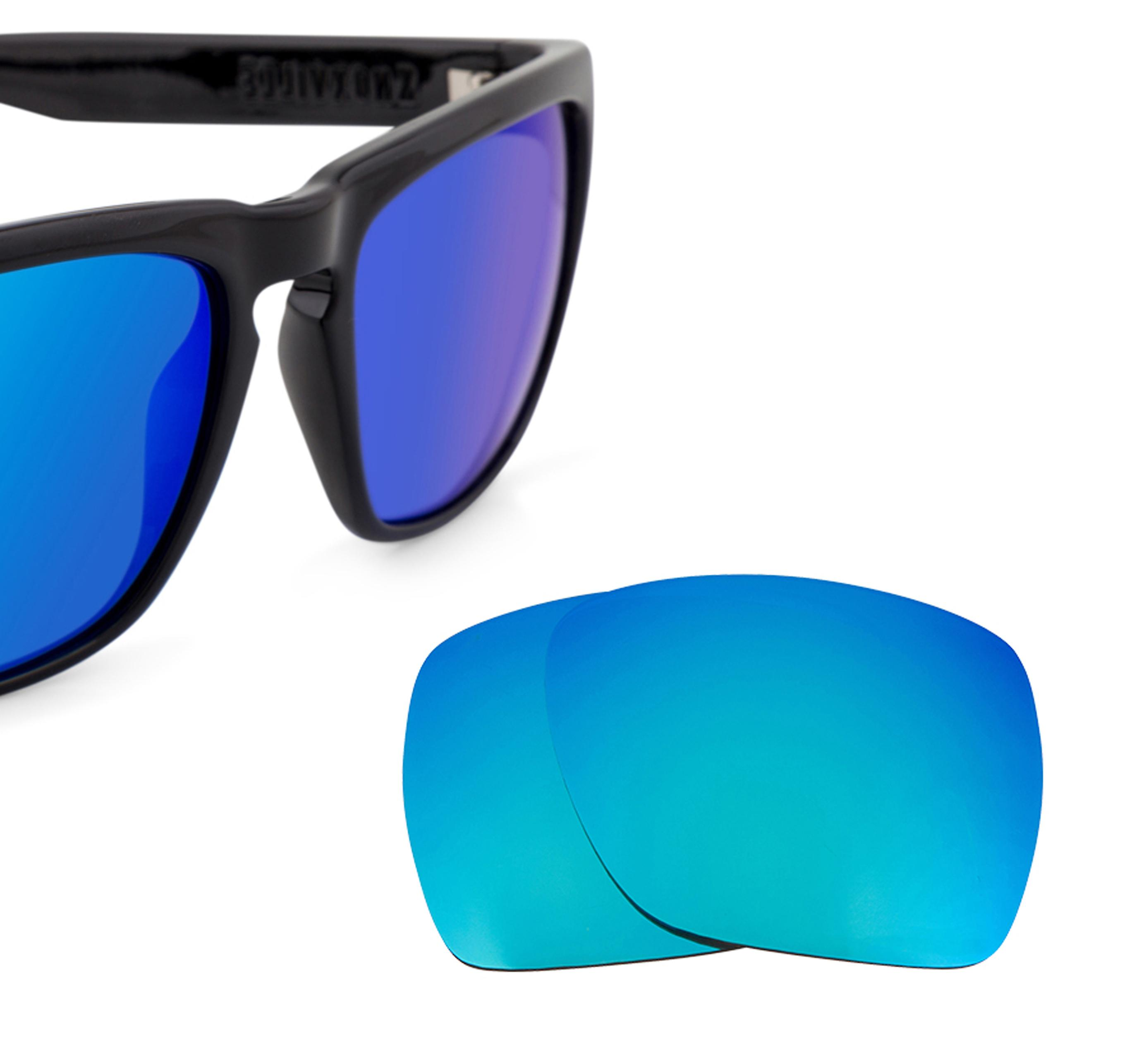 ebe6a50580f Best SEEK Polarized Replacement Lenses for Electric KNOXVILLE XL Blue Mirror