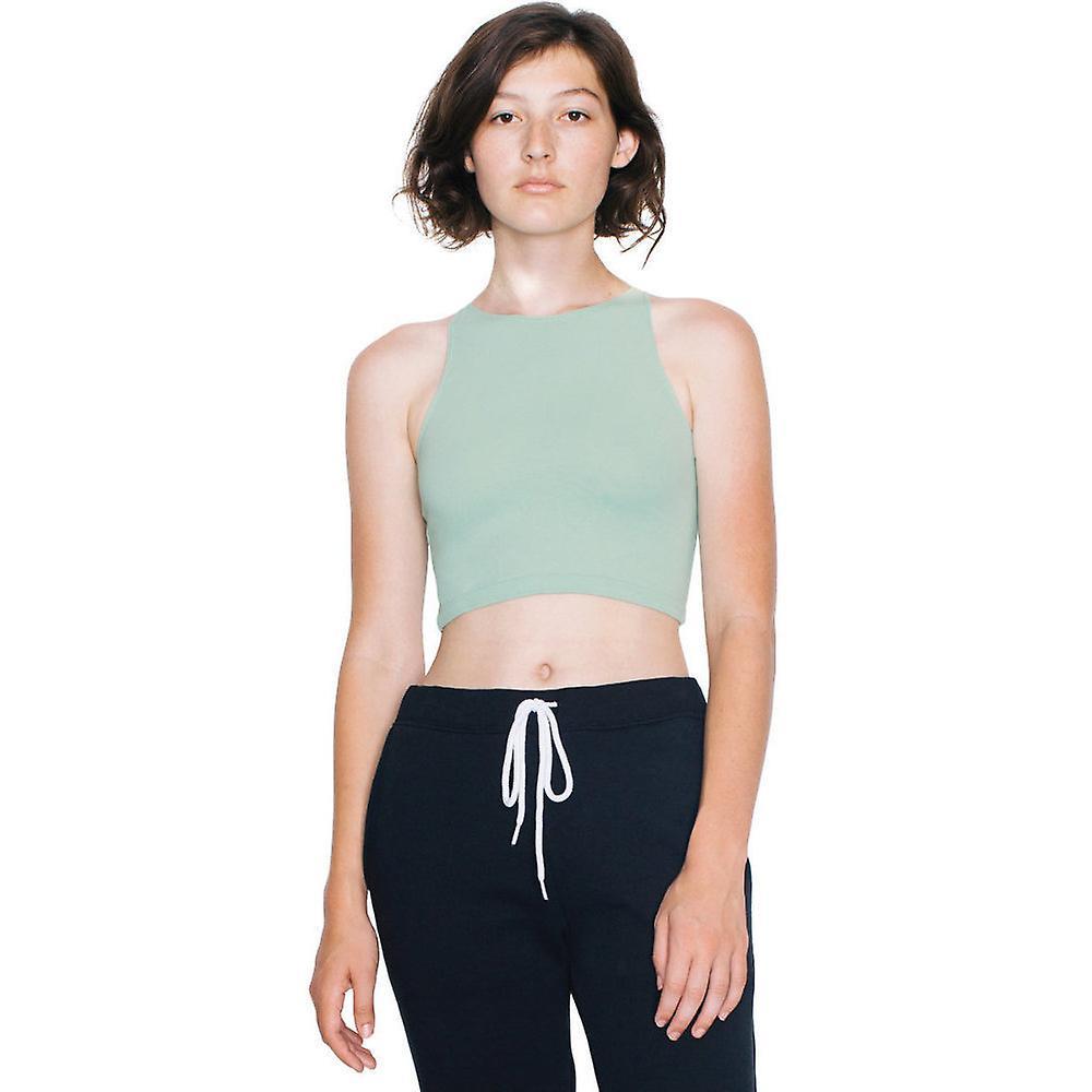 2b9e95341ccba1 American Apparel Womens Ladies Cotton Spandex Sleeveless Crop Top ...