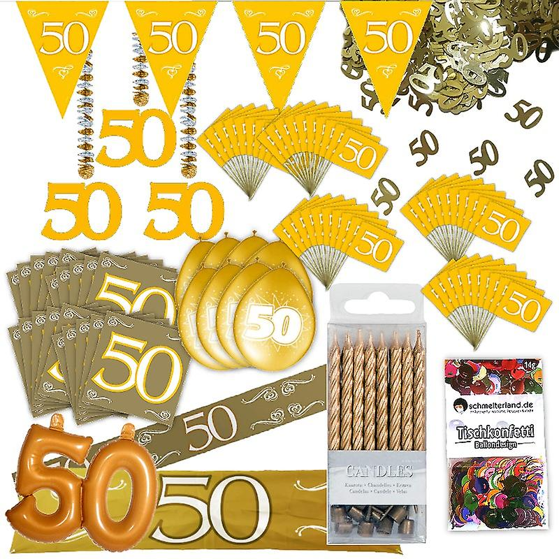 Goldhochzeit Party Deko Set Xl 103 Teilig 50 Jahre Jubiläum