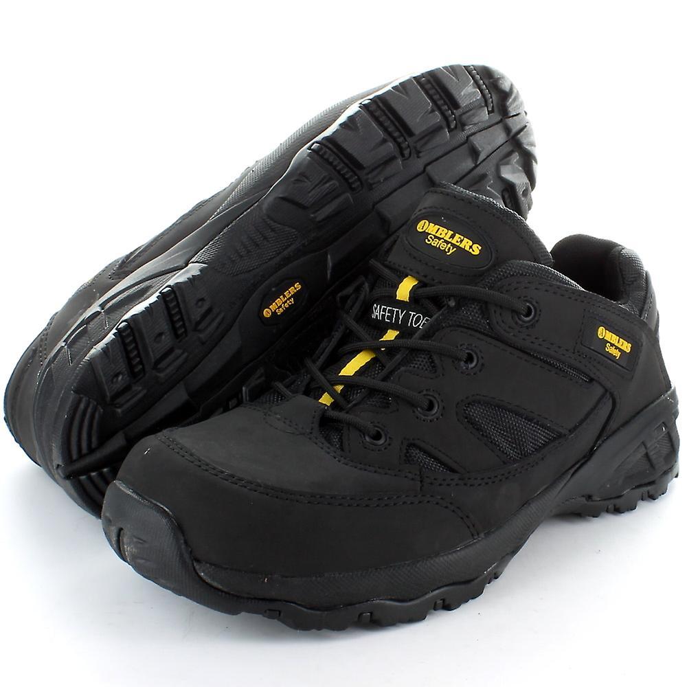 da3a844fc9b Amblers Steel FS68C Black Composite Toe Cap Work Safety Trainer