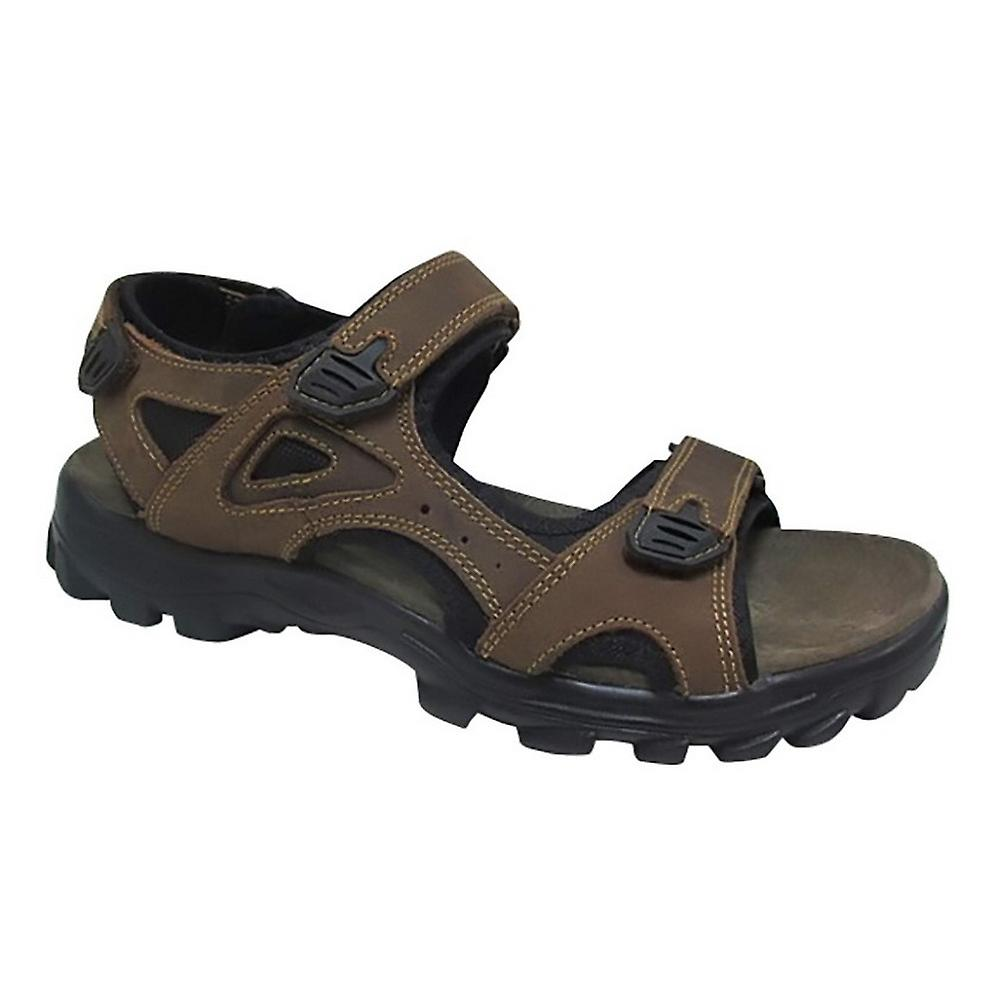 Roamers Mens Three Point Touch Fastening Sandals