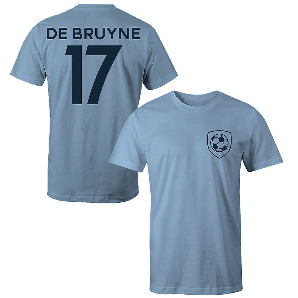 low priced dddb1 7a48d Kevin De Bruyne 17 Manchester City Style Player Kids T-Shirt