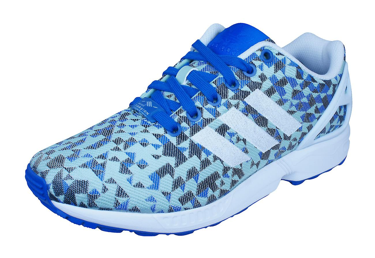 0c15eed96452f adidas Original ZX Flux Weave Mens Trainers   Shoes - Blue