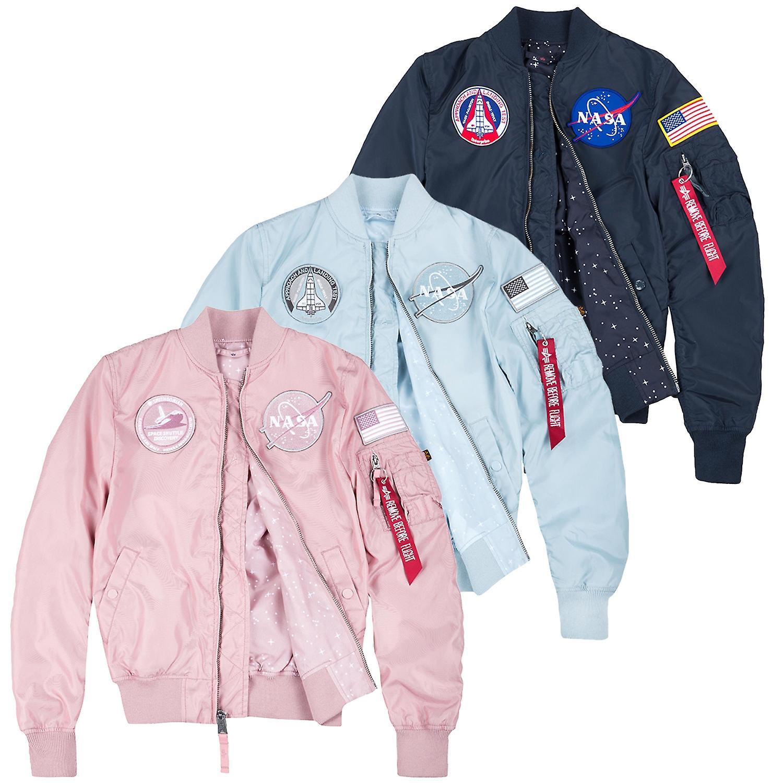 Alpha industries women s bomber jacket MA-1 NASA TT reversible Wmn ... e3fccc03e