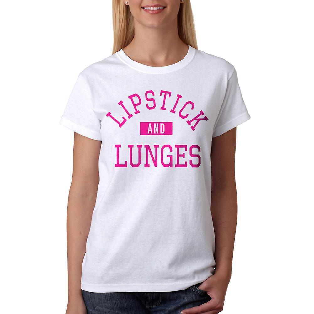 4b2200d9 Leppestift og Lunges trening grafisk kvinners hvit t-skjorte | Fruugo