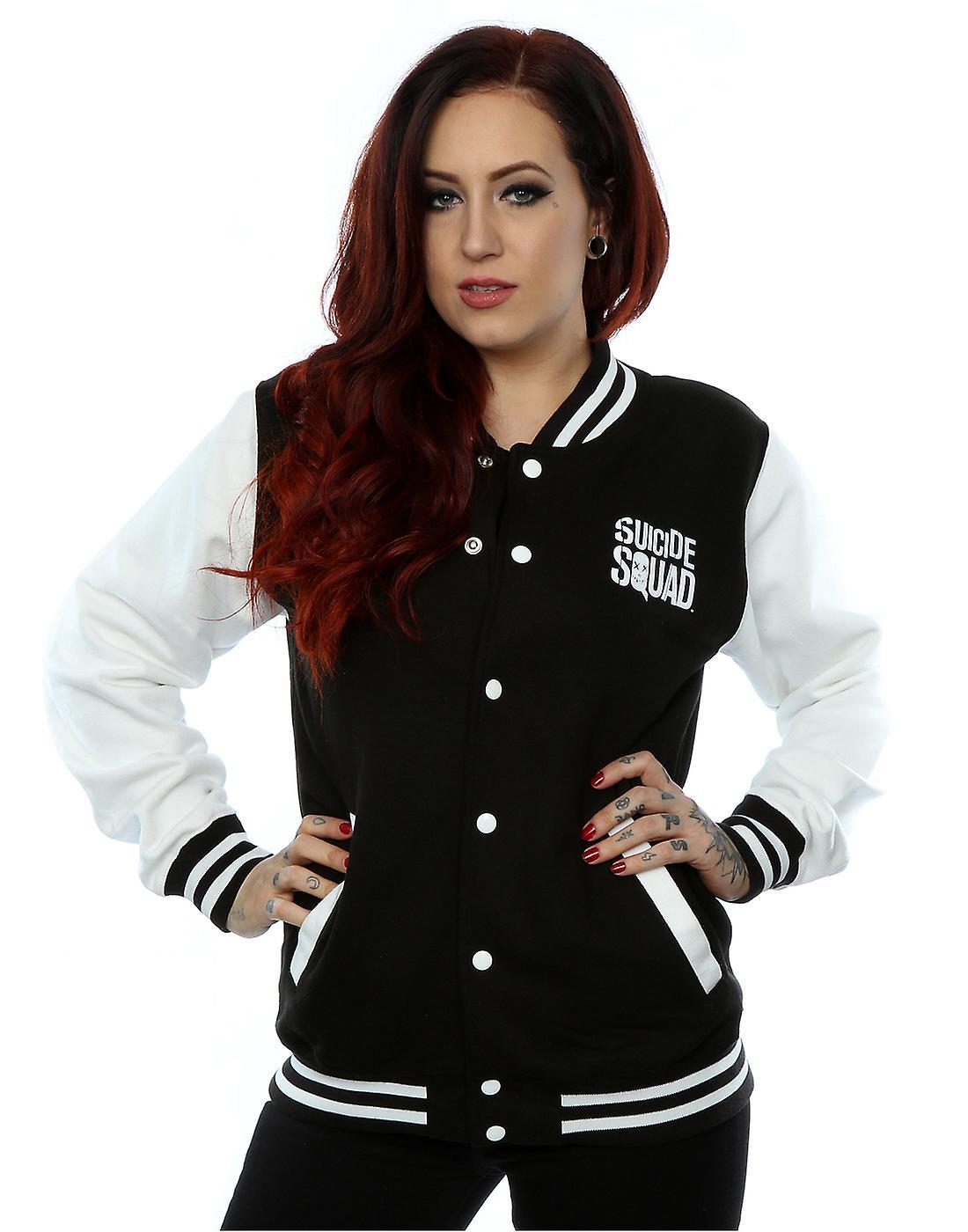 ff1118b46712 Suicide Squad Women s Joker Icon Varsity Jacket