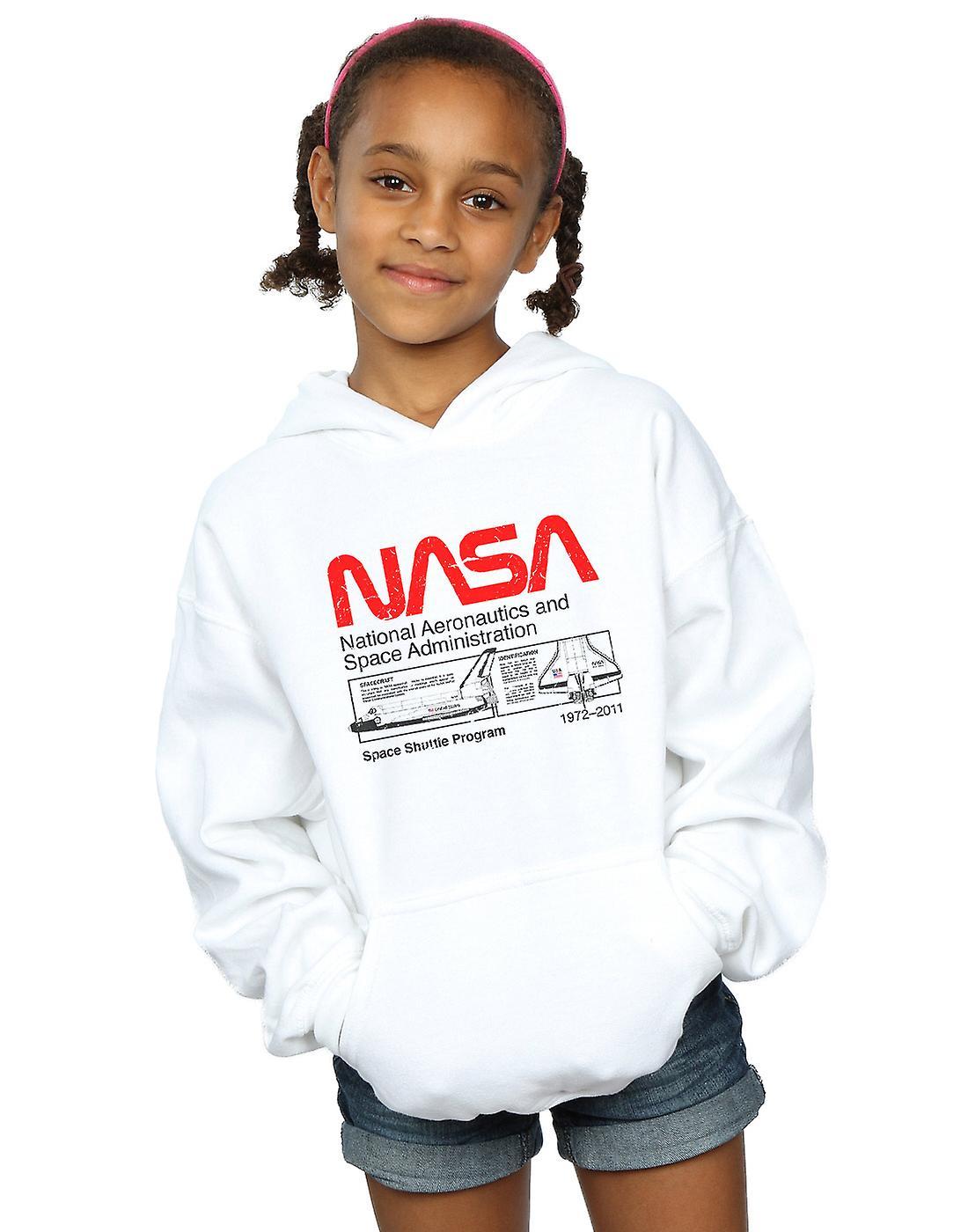c68ccabce2af NASA jenter klassiske romfergen Hettegenser