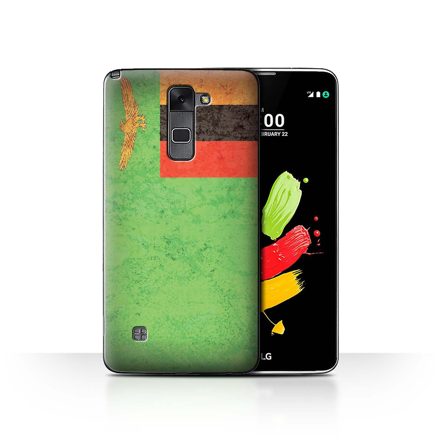 STUFF4 Phone Case/Cover for LG Stylus 2/K520 / Zambia/Zambian Design /  African Flag Collection