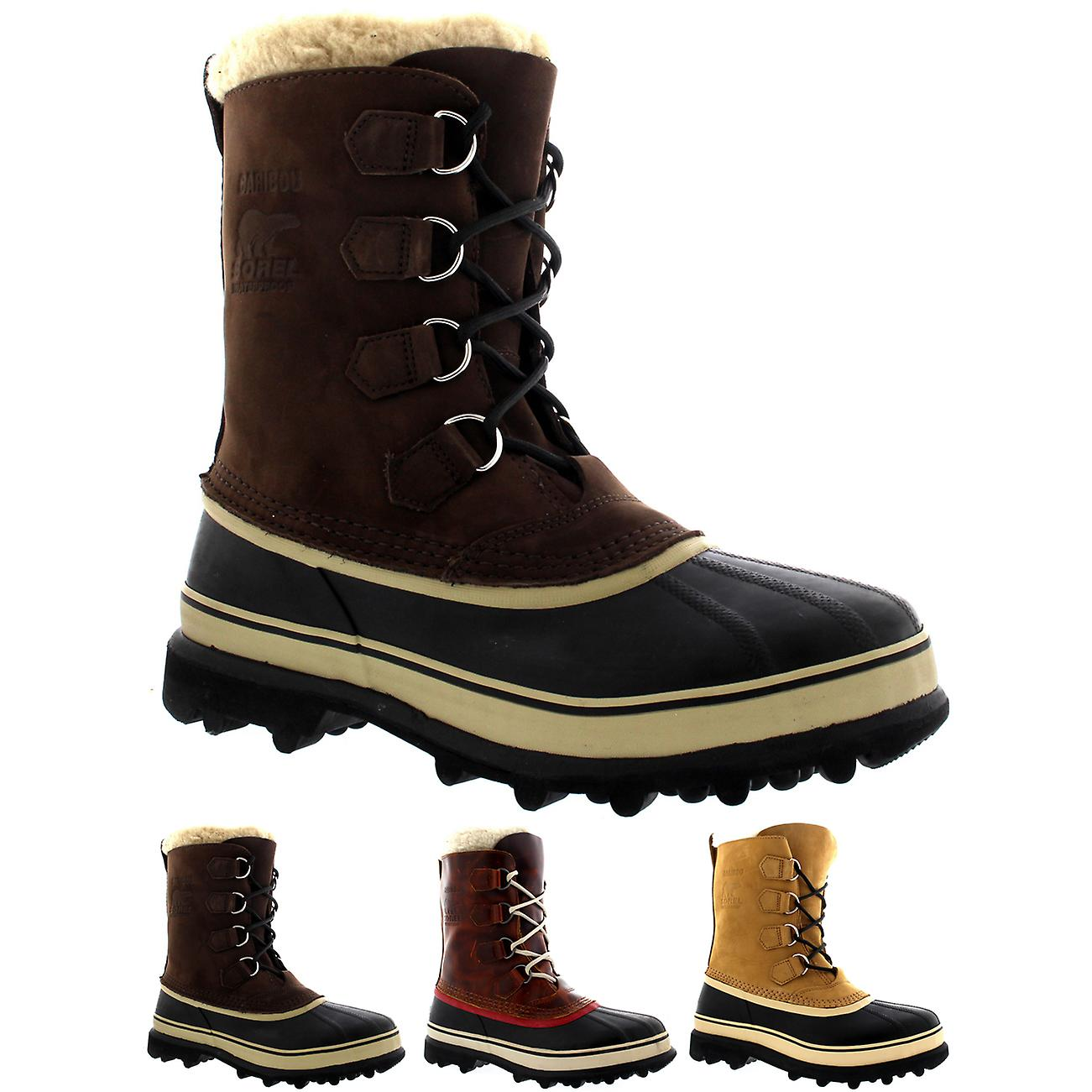 68df72aa191 Mens Sorel Caribou Winter Snow Waterproof Fleece Lined Mid Calf Boots UK  7-12