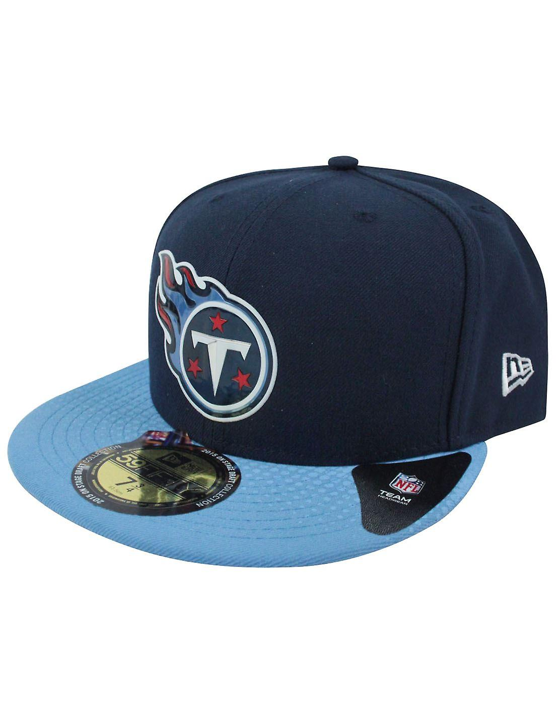 separation shoes 20a5a 09a2b New Era 59Fifty NFL Tennessee Titans Draft Cap Blue
