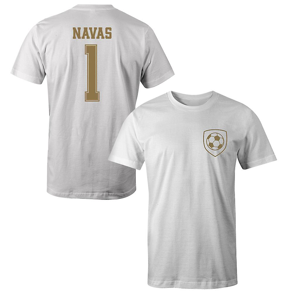size 40 56bbd 1f65a Keylor Navas 1 Real Madrid Style Player T-Shirt