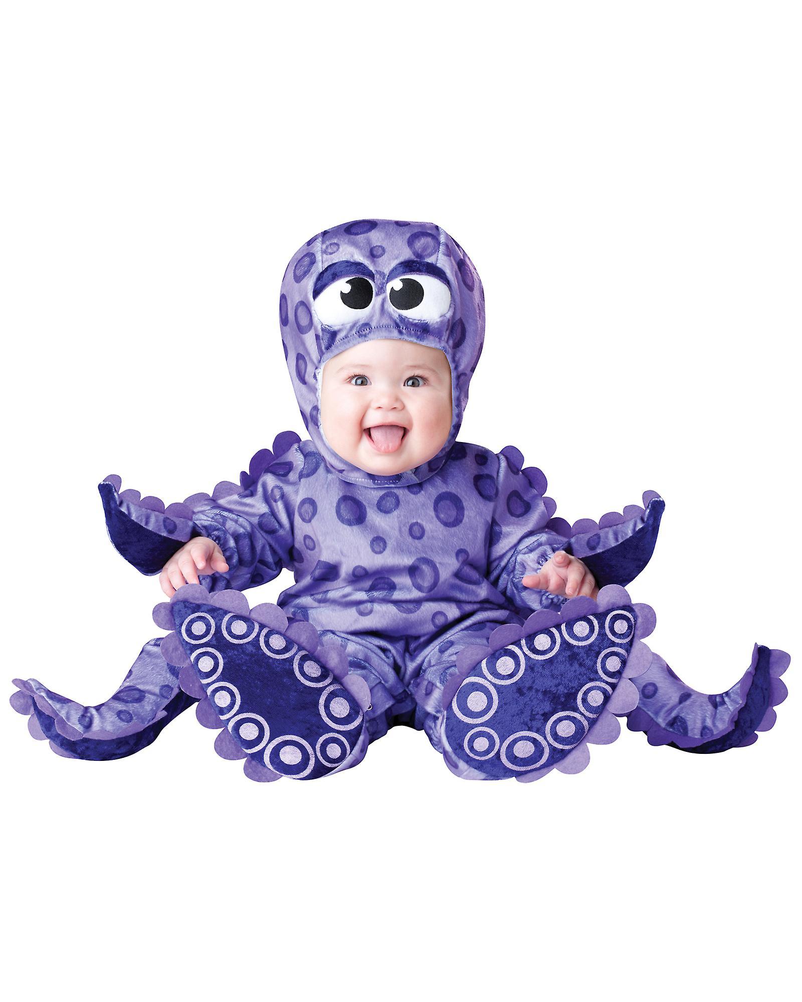 ec94fc108275 Lille fangarme blæksprutte Sealife Deluxe Baby drenge piger spædbarn kostume