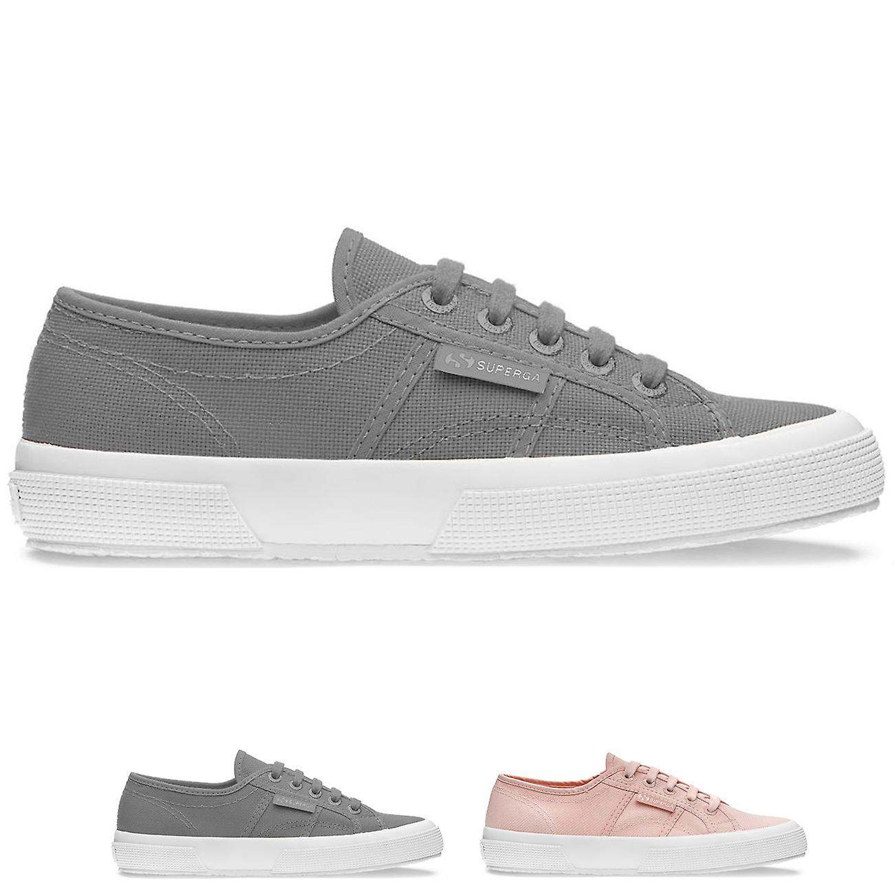 d1f8a073dfc Womens Superga 2750 Classic Low Top Fashion Flat Lace Up Casual Trainers
