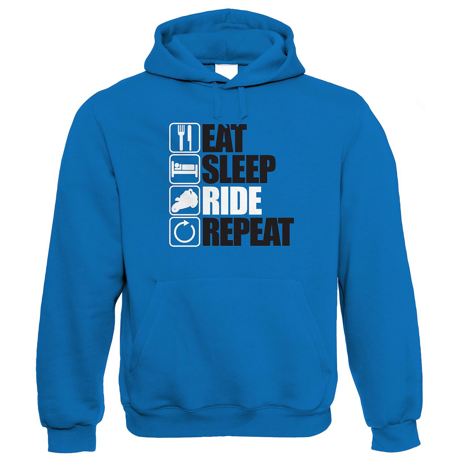 Eat Sleep Ride Repeat, Mens Funny Biker Hoodie | Motorbike Enthusiast  Motorcycle Club Chopper Cafe Racer Superbike Gentleman Biker | Cool  Birthday