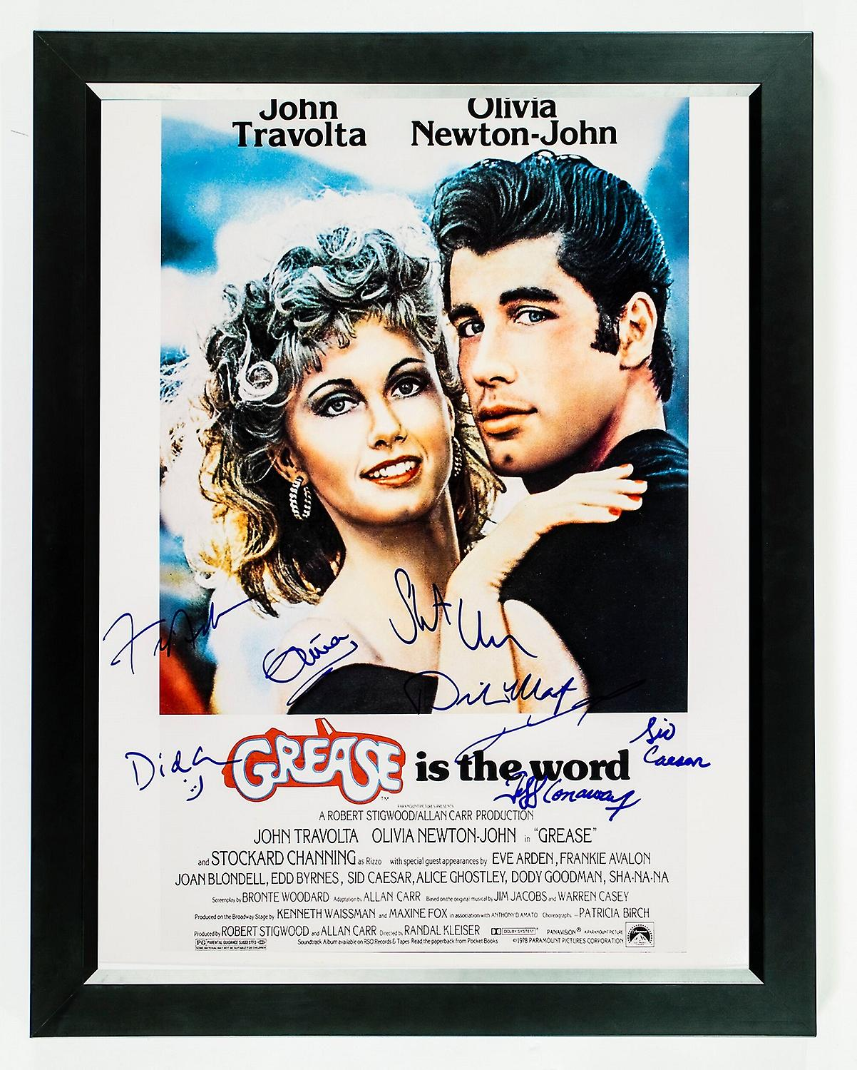 Grease Signed Movie Poster