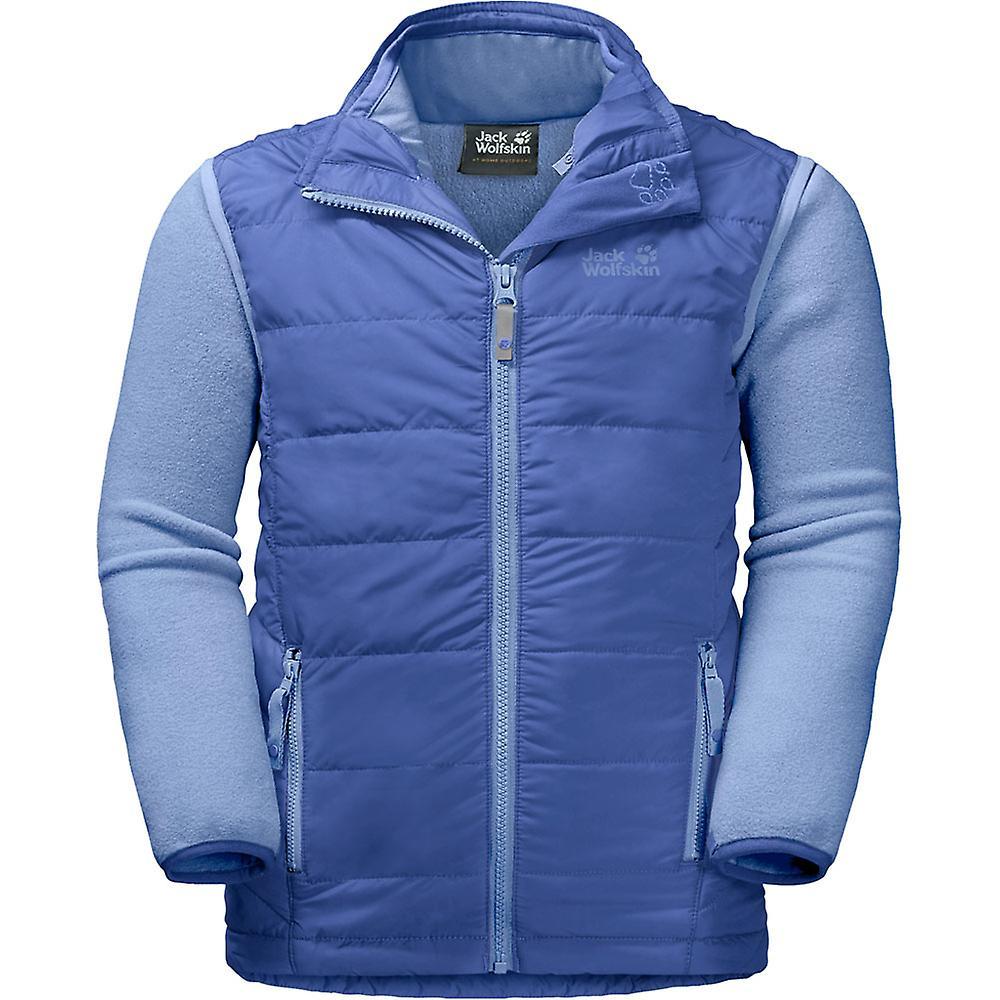 Jack Wolfskin gutter & jenter Glen Dale varm 3 i 1 Fleece vest jakke