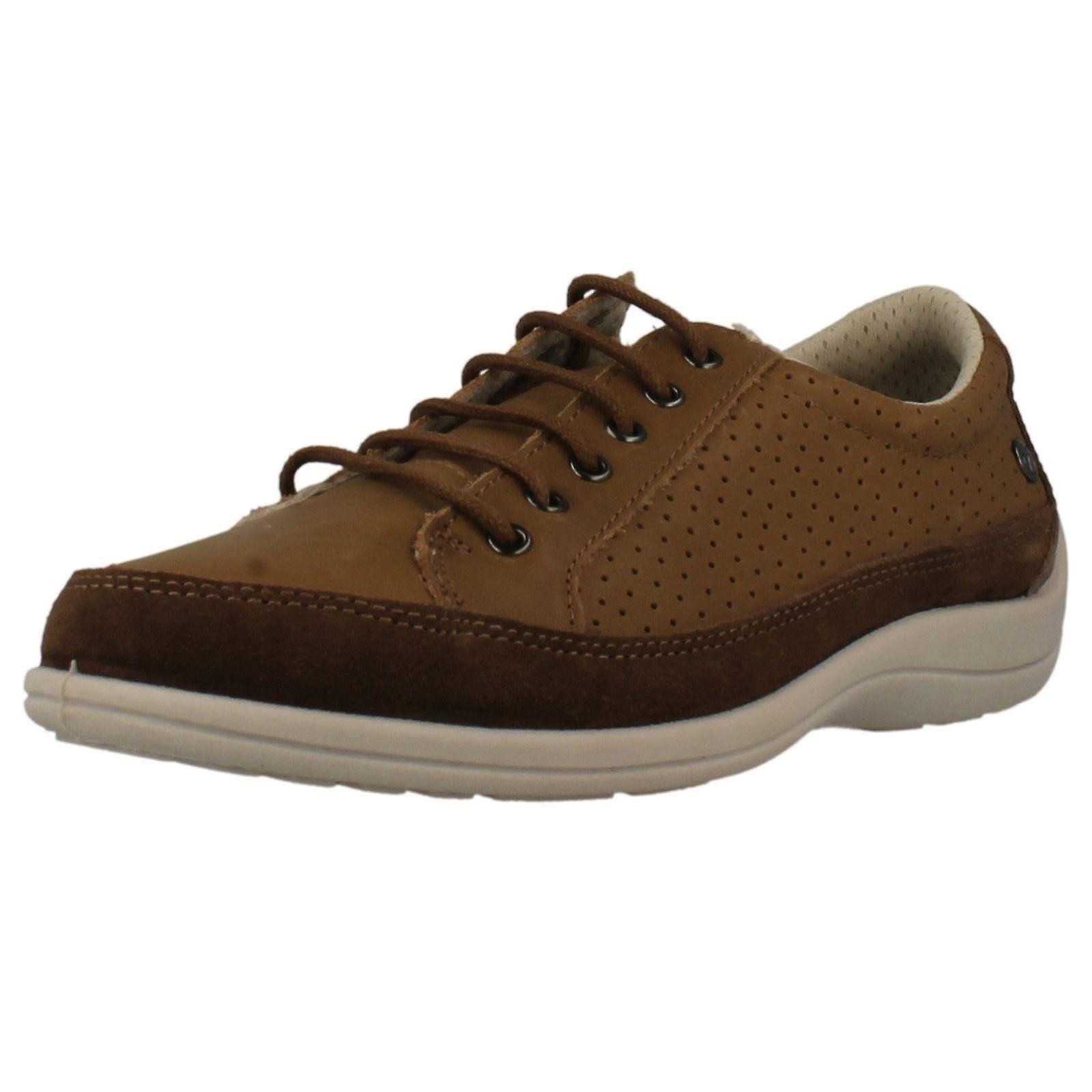 1da60aa15529 Ladies Free Step Leather Lace Up Casual Shoes  OL13697