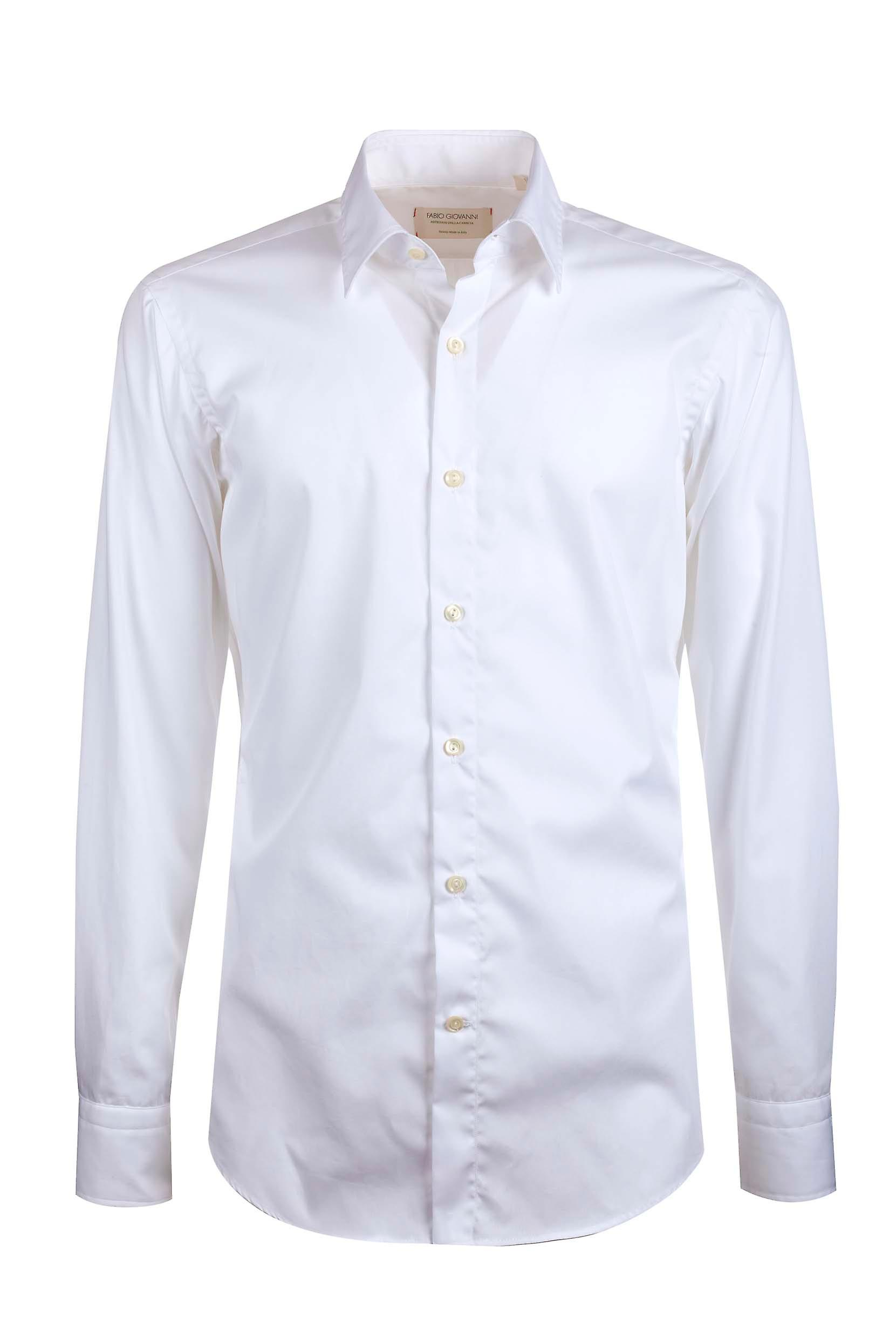 Fabio Giovanni Bellini Shirt Mens High Quality Italian Stretch