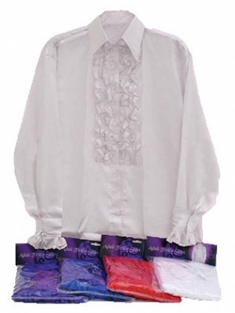 Satin skjorta och volanger (vit).  f138a34e0c253