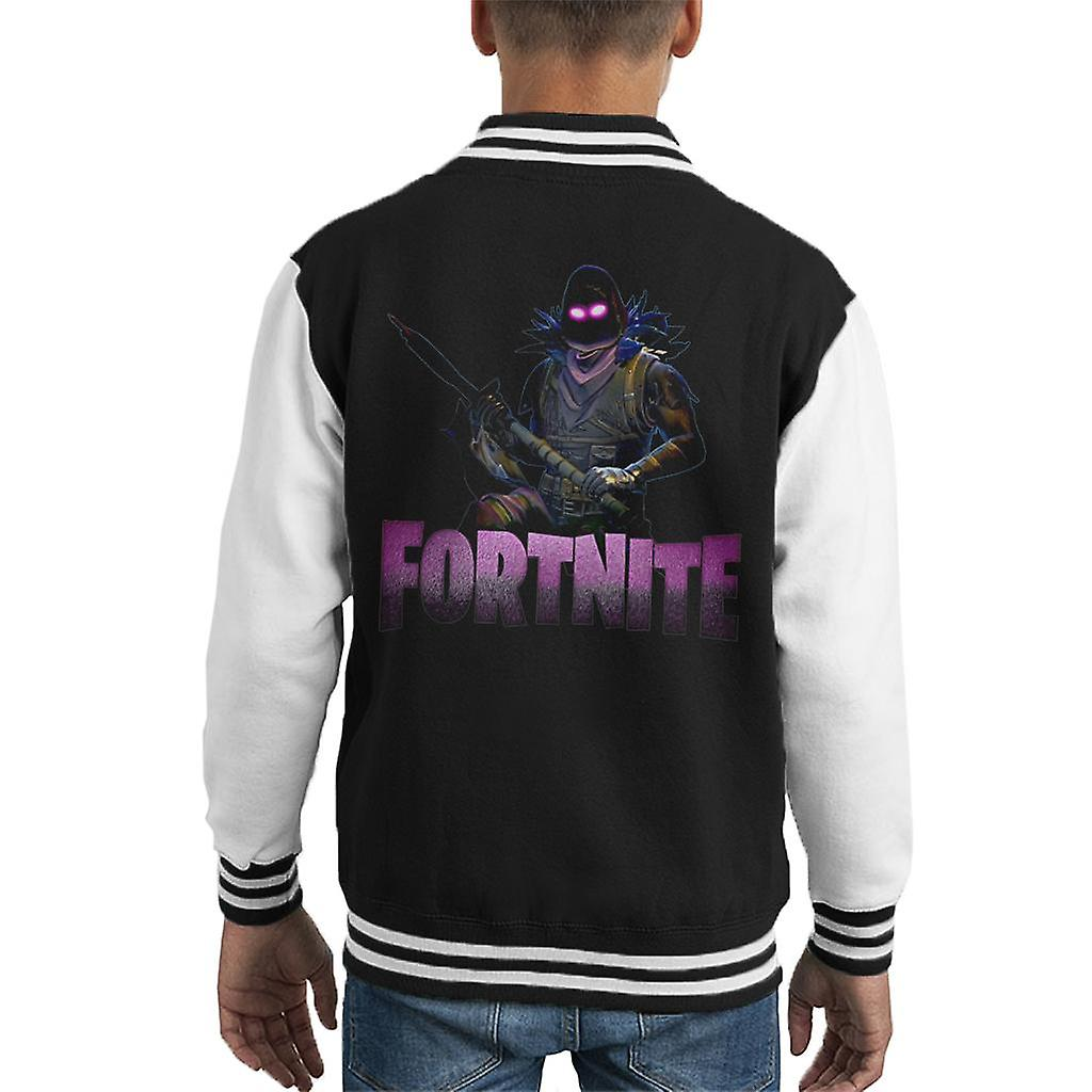 brand new b288a 2972d Fortnite Raven Skin With Weapon Kid's Varsity Jacket