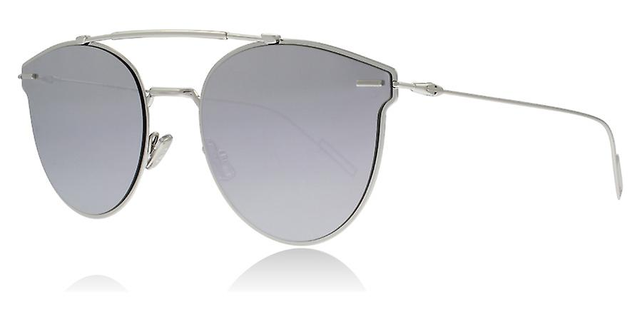 7388bd1d51bd1 Dior Homme Pressure 010 Palladium Pressure Round Sunglasses Lens Category 3  Lens Mirrored Size 57mm