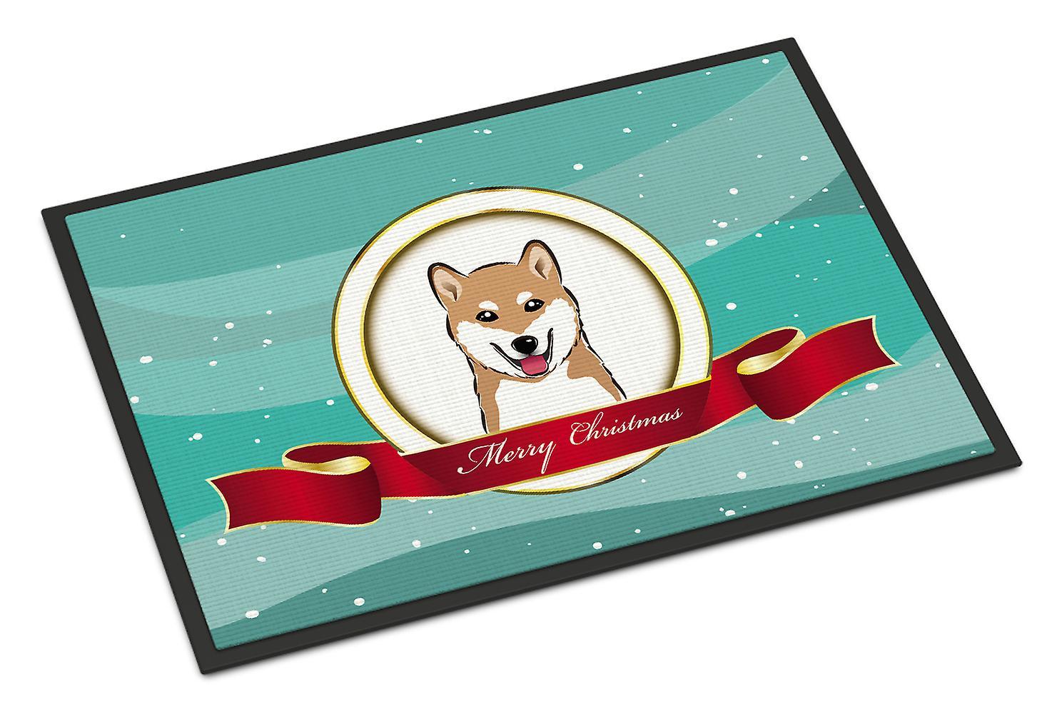Shiba Inu Frohe Weihnachten Indoor oder Outdoor Mat 24 x 36 | Fruugo