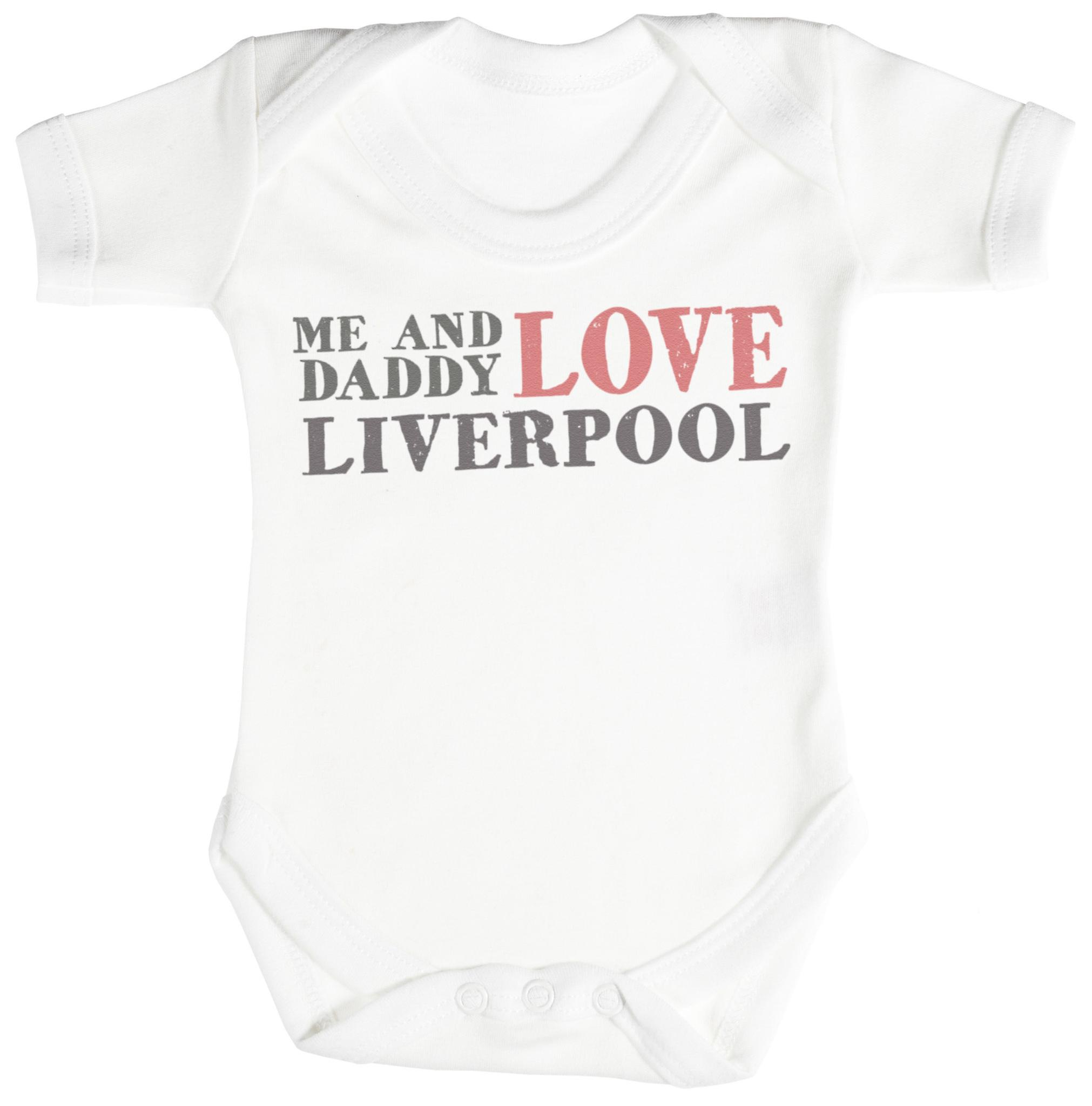 Me & Daddy Text Love Liverpool Baby Bodysuit Babygrow