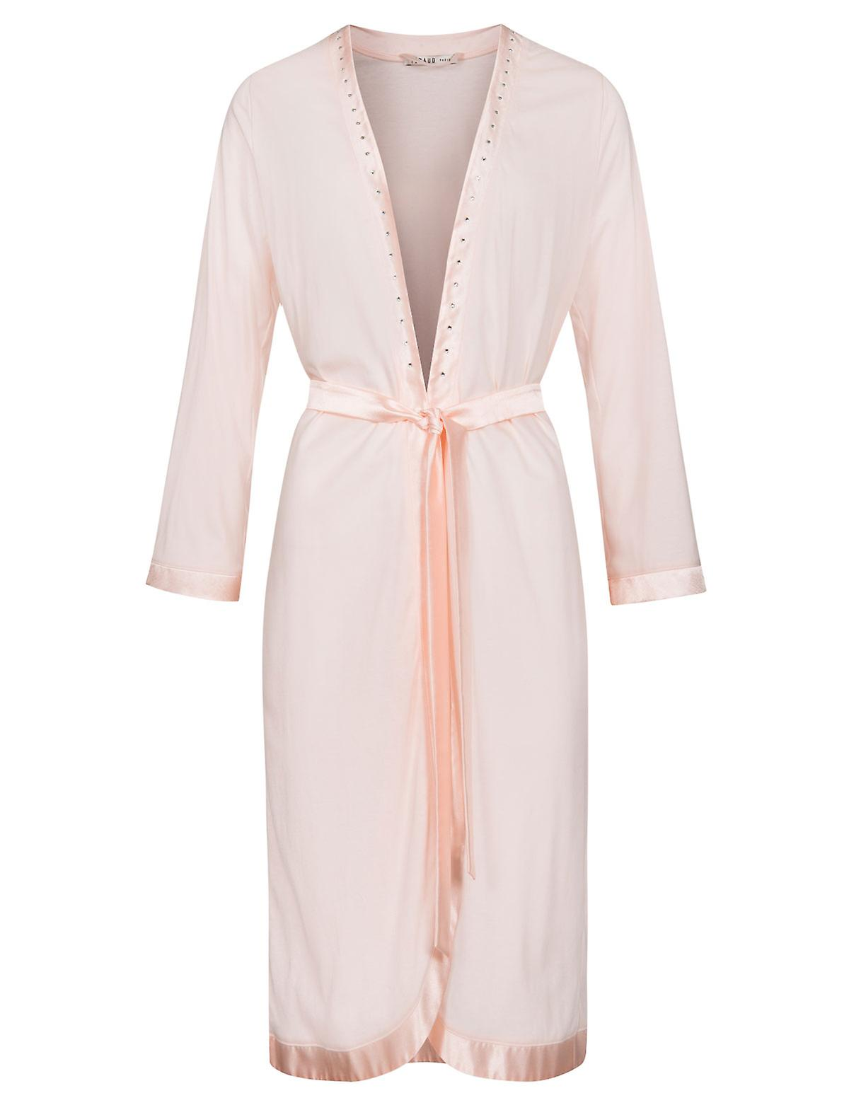 Feraud 3181315-11577 Women s Couture New Rose Pink Solid Colour Dressing  Gown Loungewear Bath Robe 8601e1c89
