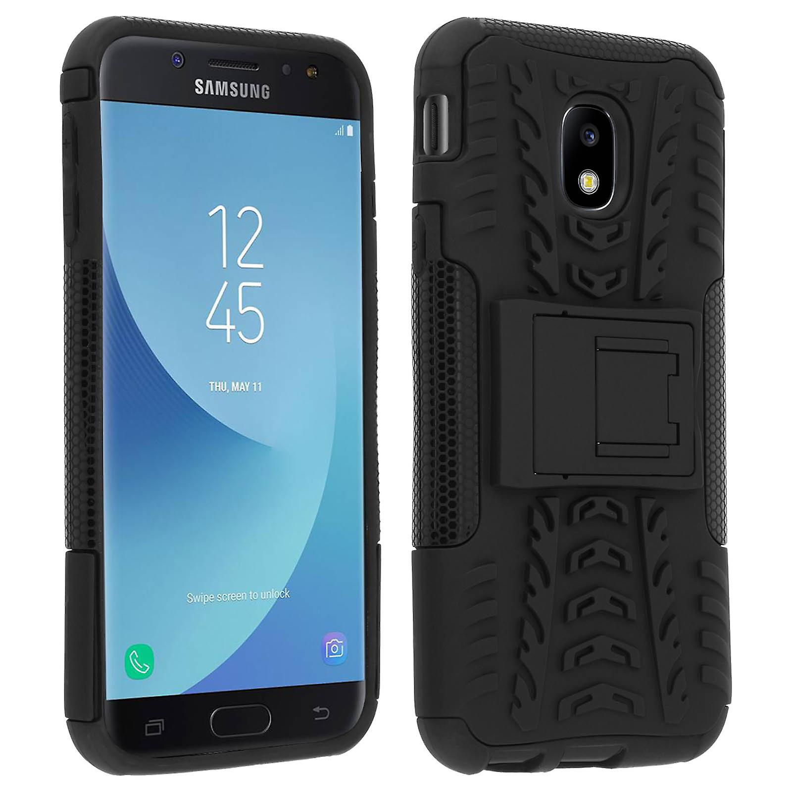Shockproof Stand case, Backcover for Samsung Galaxy J3 2017 & Kickstand -  Black