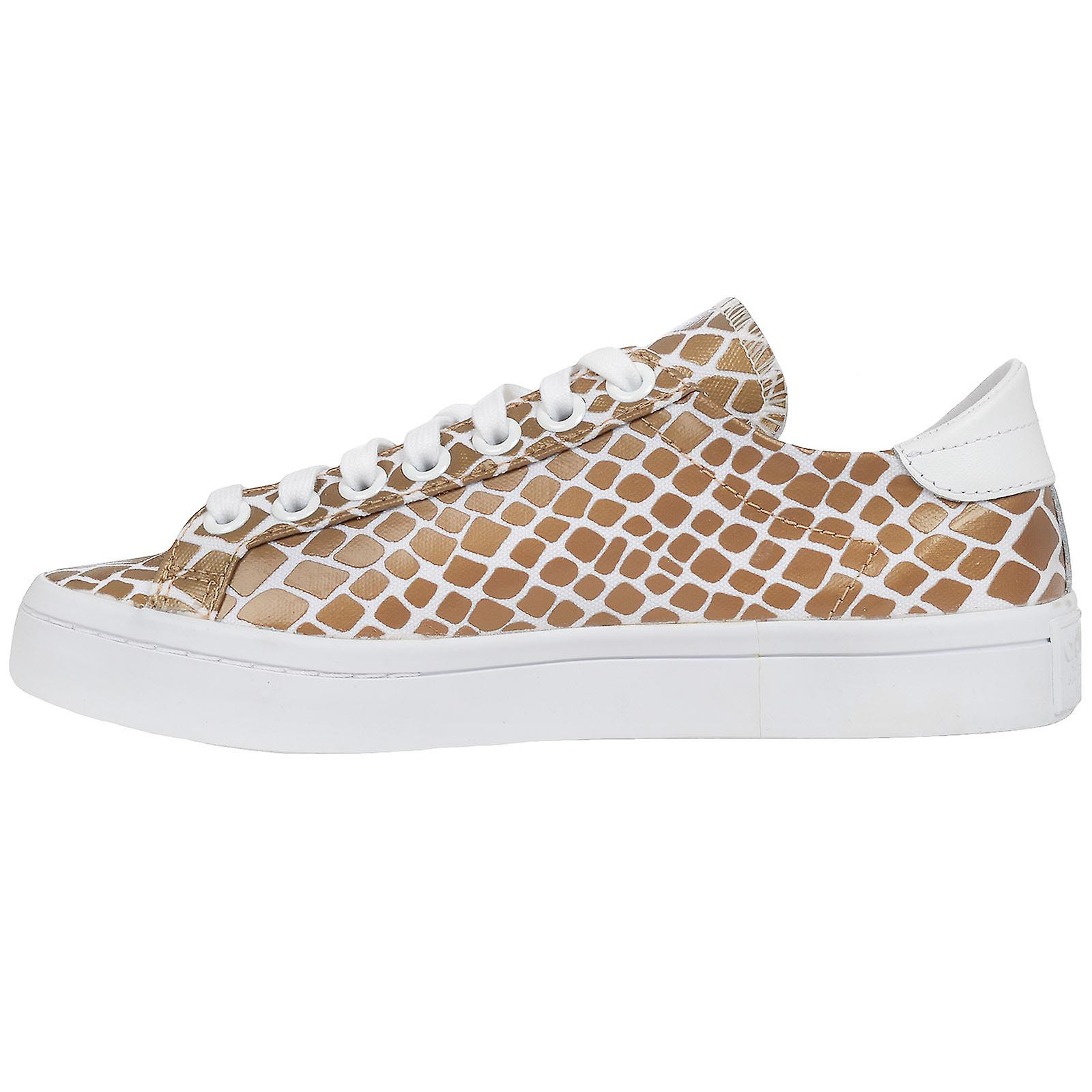 the best attitude bae91 17a80 adidas Originals Womens Court Vantage Snake Skin Print Fashion Sneakers  Trainers
