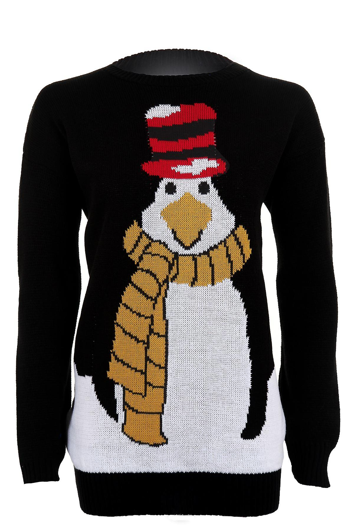d431808e2883 Women s Christmas Long Sleeve Penguin Festive Knitted Warm Winter Women s  Jumper