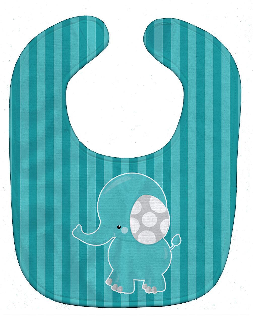 c210e13715a Babero del bebé elefante a rayas de Carolines tesoros BB6841BIB