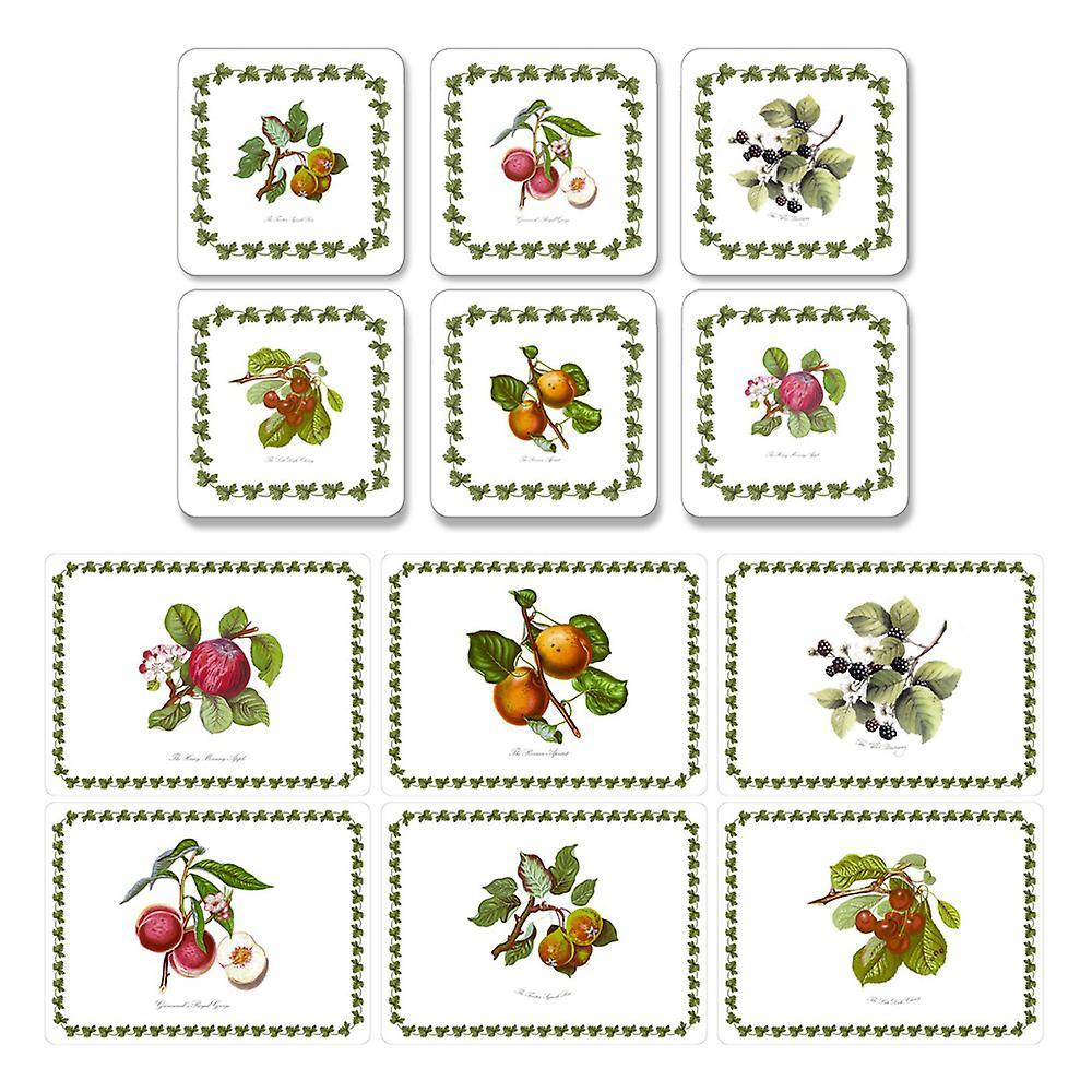 Set of 6 Pimpernel Pomona Coasters