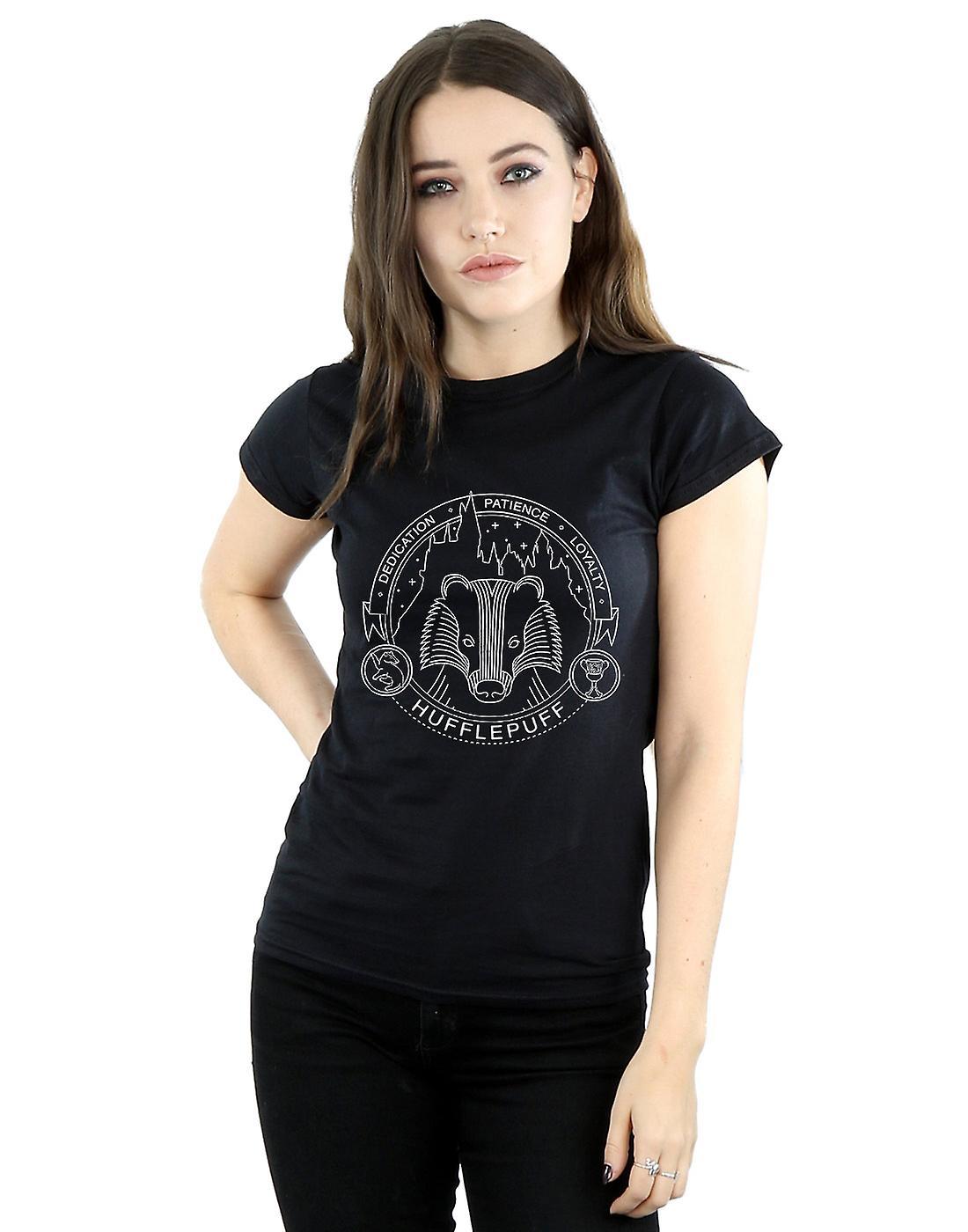90966cbd Harry Potter Women's Hufflepuff Seal T-Shirt   Fruugo