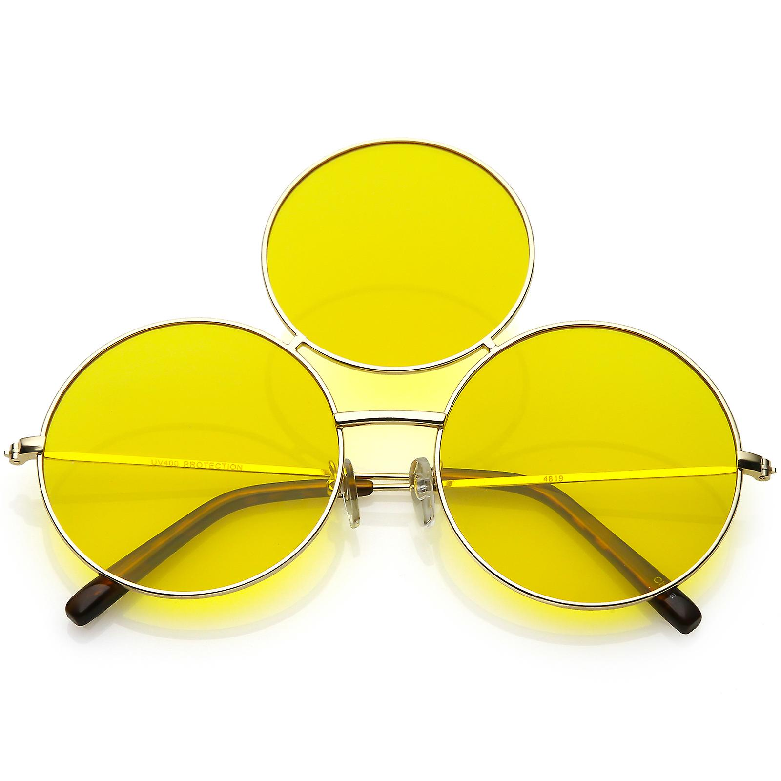 c420bf991d Oversize Circle Third Eye Sunglasses Slim Arms 56mm