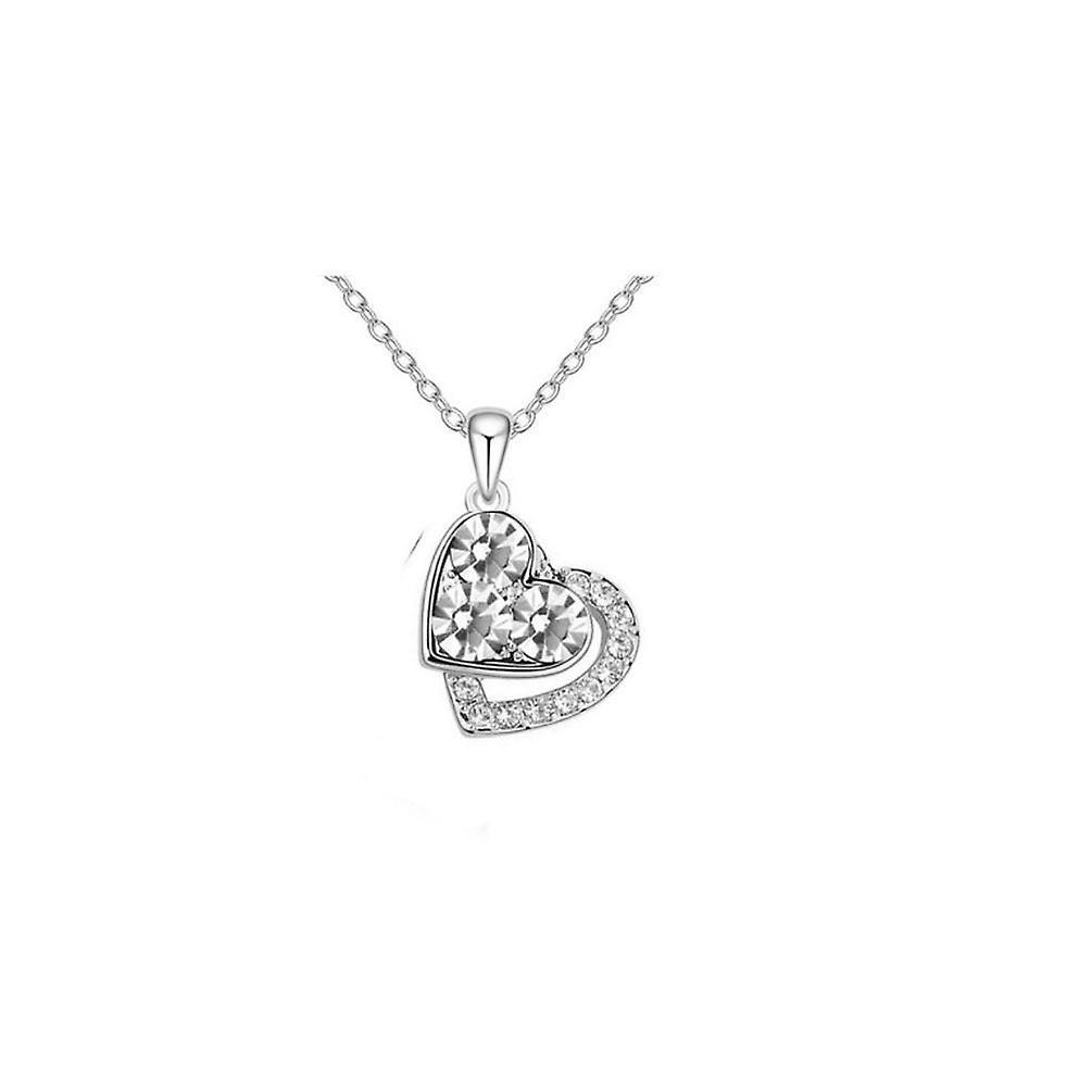 Diamante silversmycken hjärtan halsband  cd08ee9b565ab
