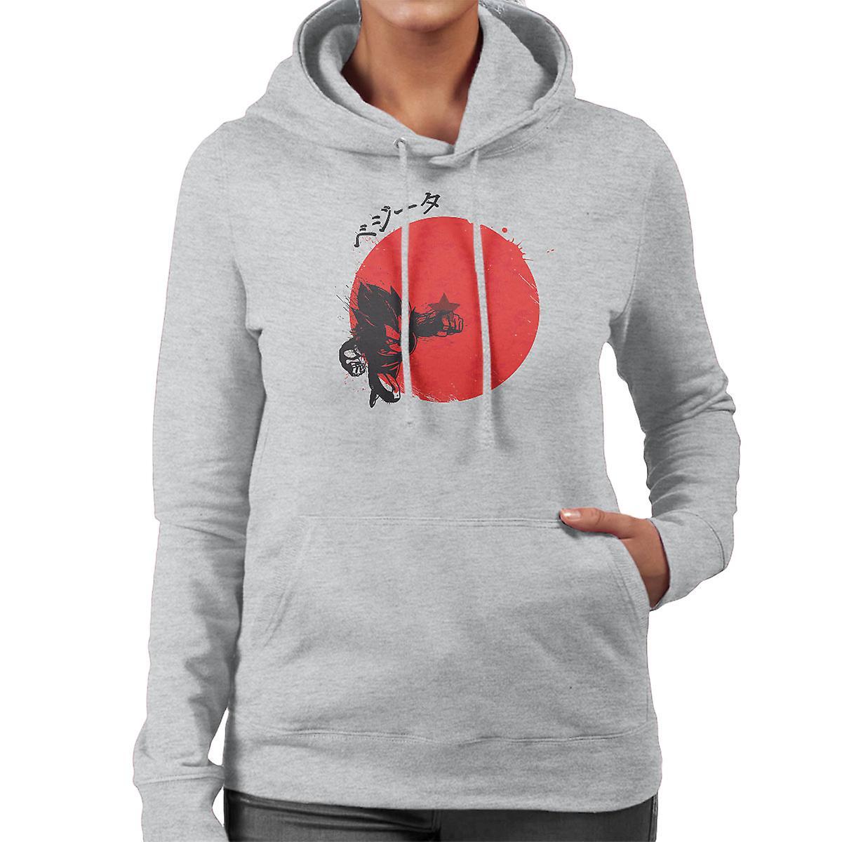 Rote Sonne Vegeta Dragonball Z Damen Sweatshirt mit Kapuze   Fruugo 751f68dece