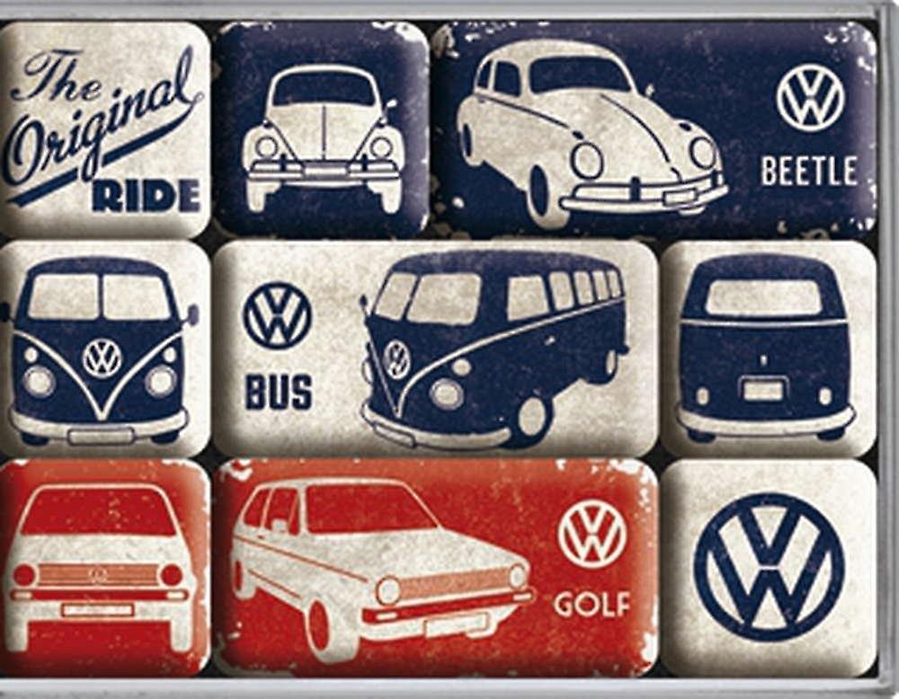 Vw Auto Kühlschrank : Koolart cartoon auto vw golf gti cabriolet metall kühlschrank