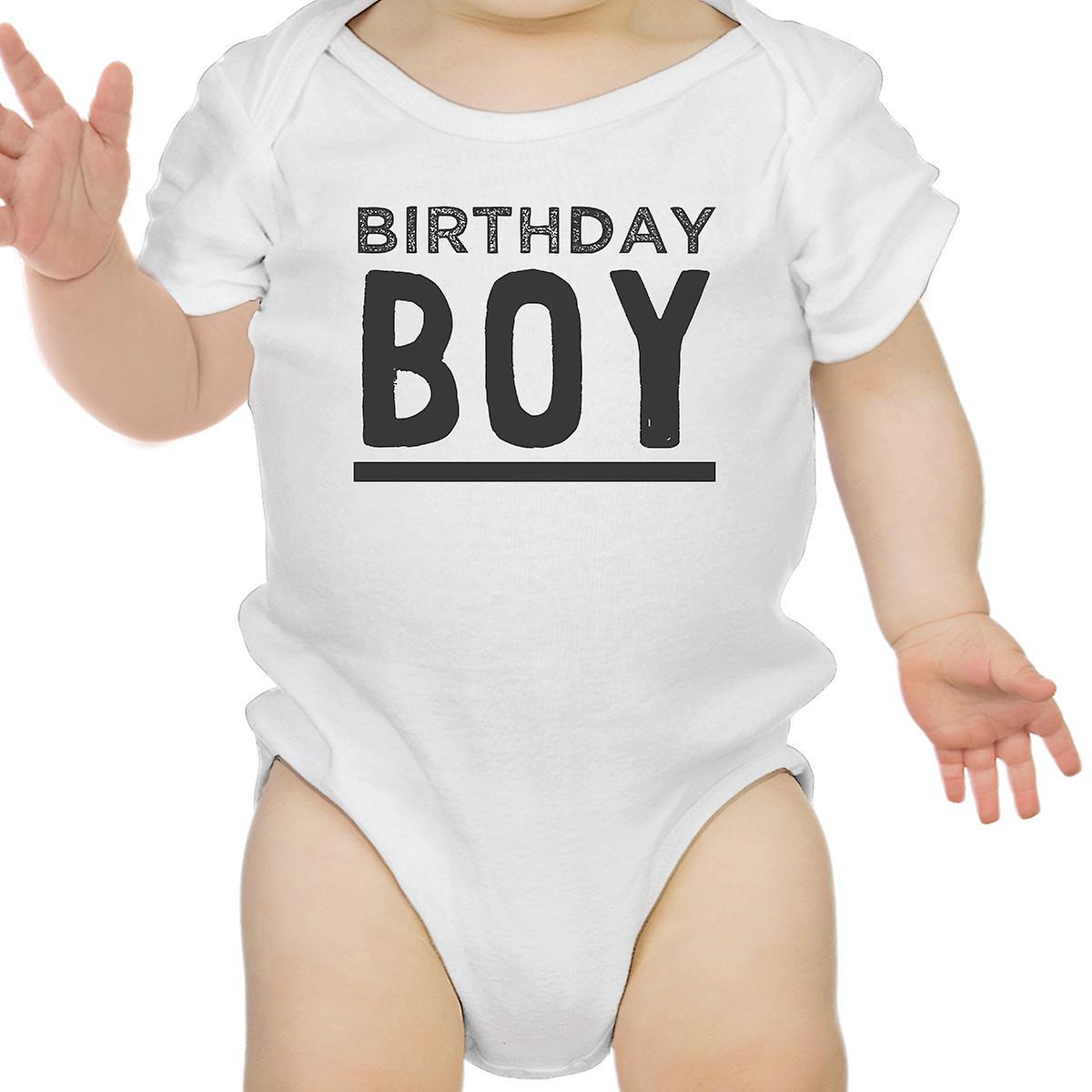 Birthday Boy White Bodysuit Cotton 1st Baby Tee Shirt
