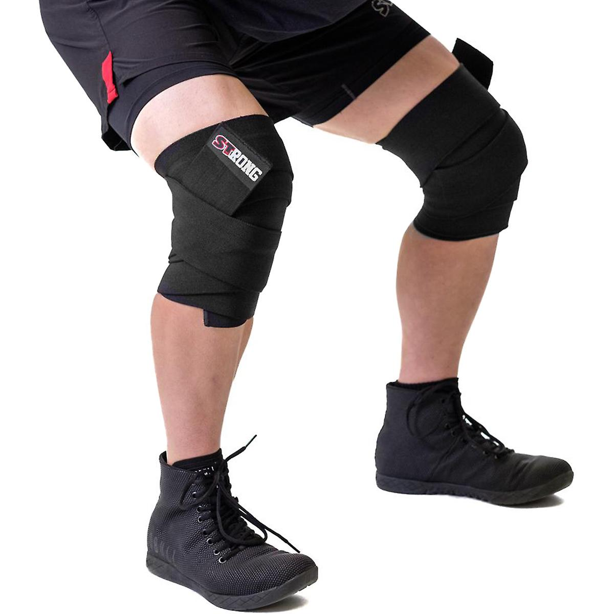 c29df9c0d1 Sling Shot STrong Knee Wraps by Mark Bell - IPF elastic weight lifting  supports